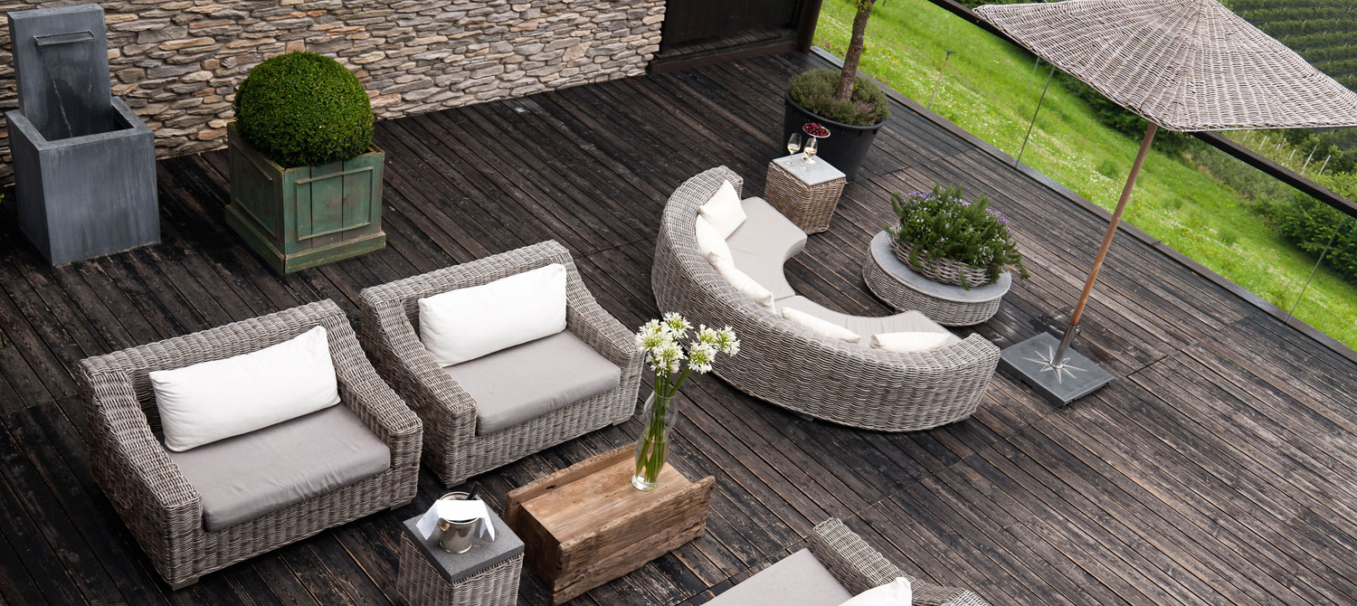 Well Known Clemens Patio Sofas Pertaining To Impressum Hotel Dorf Tirol (View 15 of 25)
