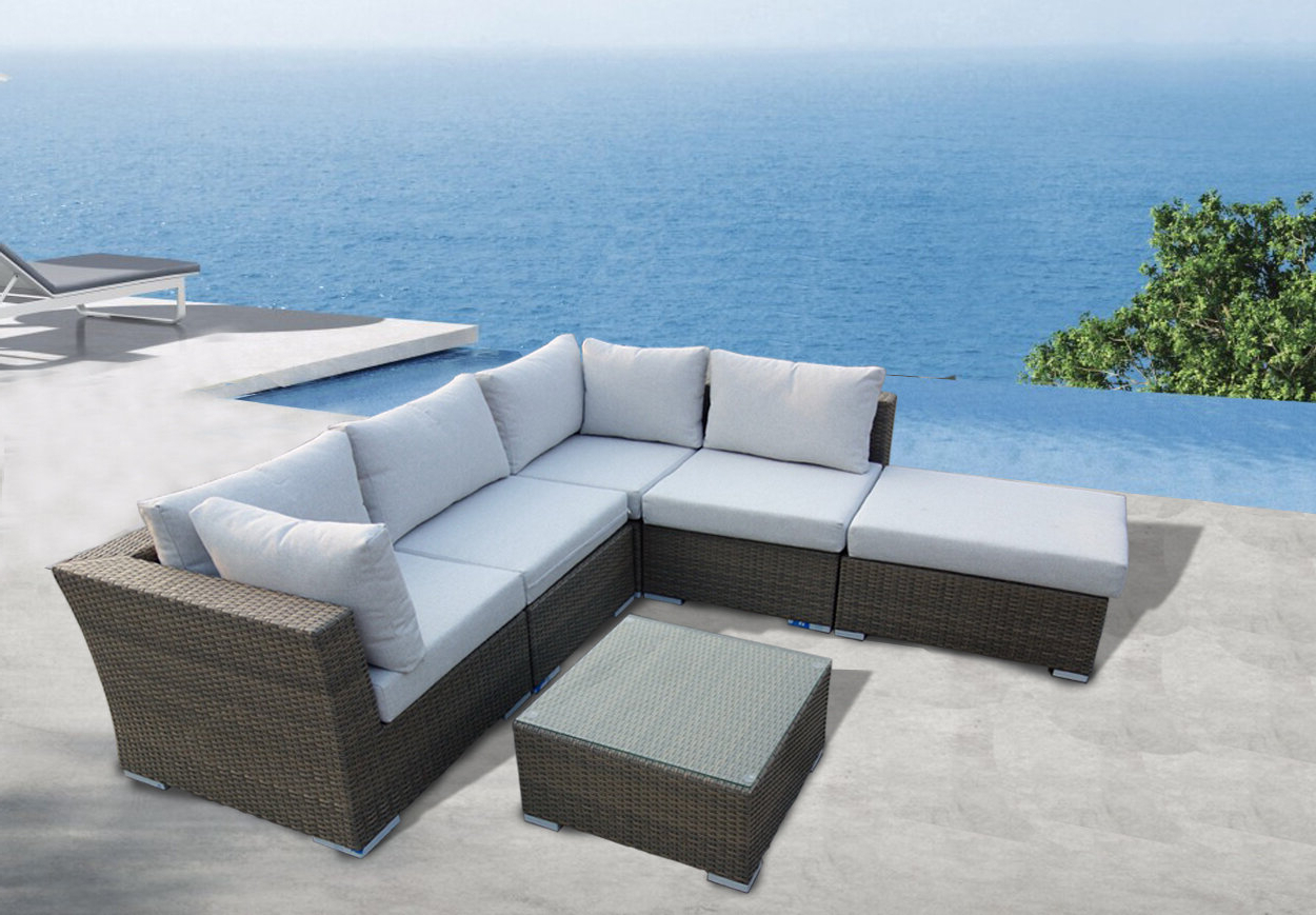Well Known Honeycutt Patio Sofas With Cushions With Regard To Honeycutt 6 Piece Sectional Seating Group With Cushions (View 7 of 25)