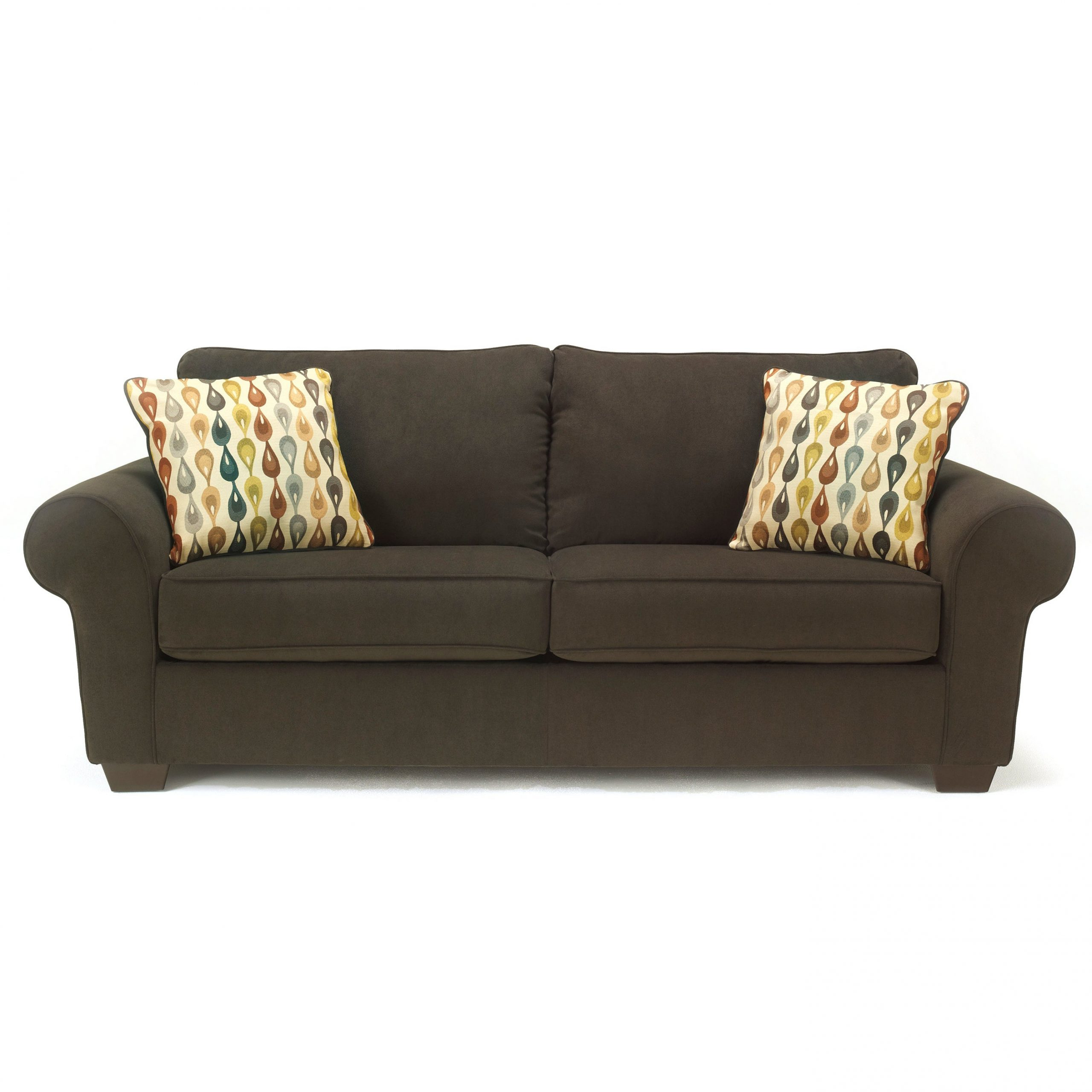 Well Known Signature Designashley Deandre Java Fabric Sofa Throughout Deandra Loveseats With Cushions (View 23 of 25)