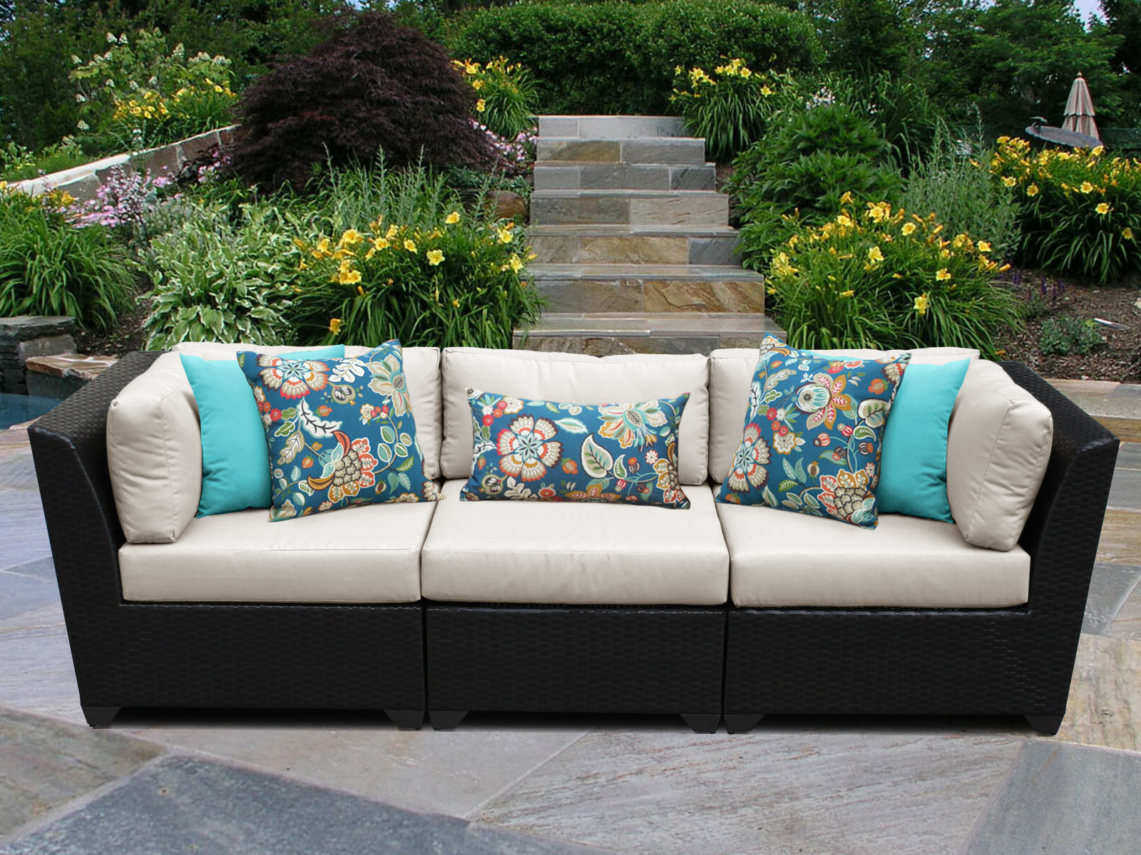 Well Known Tegan Patio Sofas With Cushions Intended For Tegan Patio Sofa With Cushions (Gallery 4 of 25)