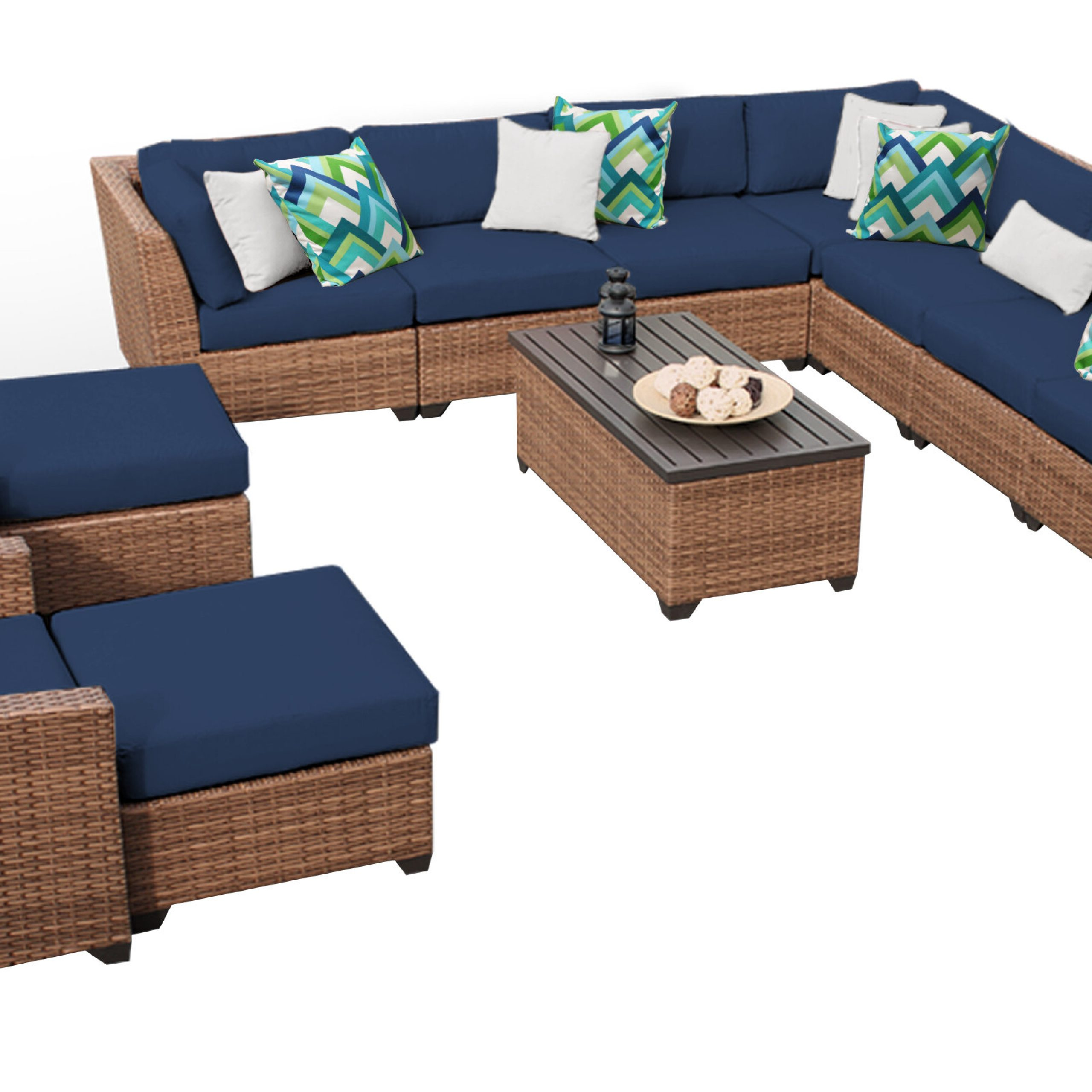 Well Known Waterbury 13 Piece Rattan Sectional Seating Group With Cushions Inside Waterbury Patio Sectionals With Cushions (Gallery 5 of 25)