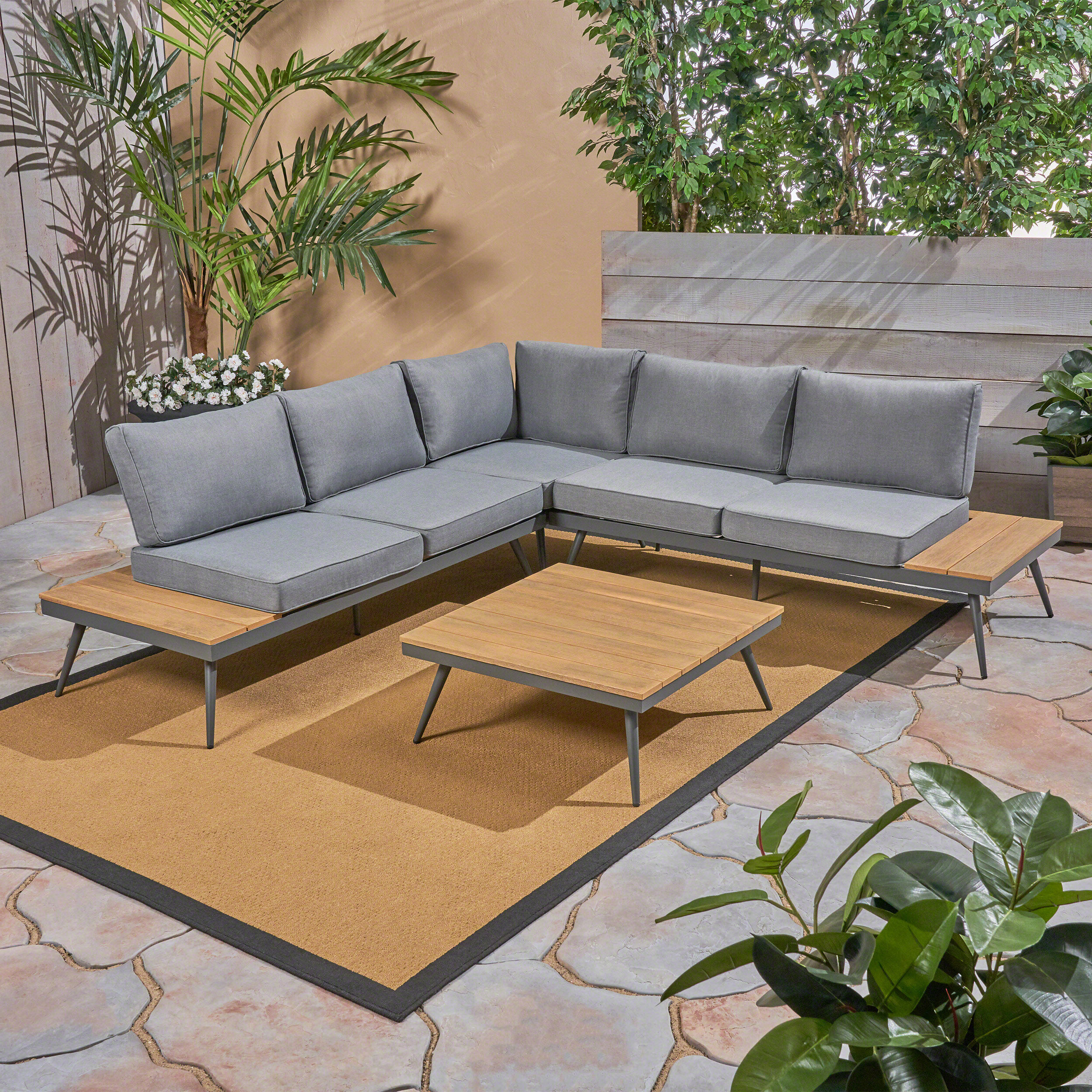 Well Liked Carina 4 Piece Sectionals Seating Group With Cushions With Carina 4 Piece Sectional Seating Group With Cushions (Gallery 1 of 25)
