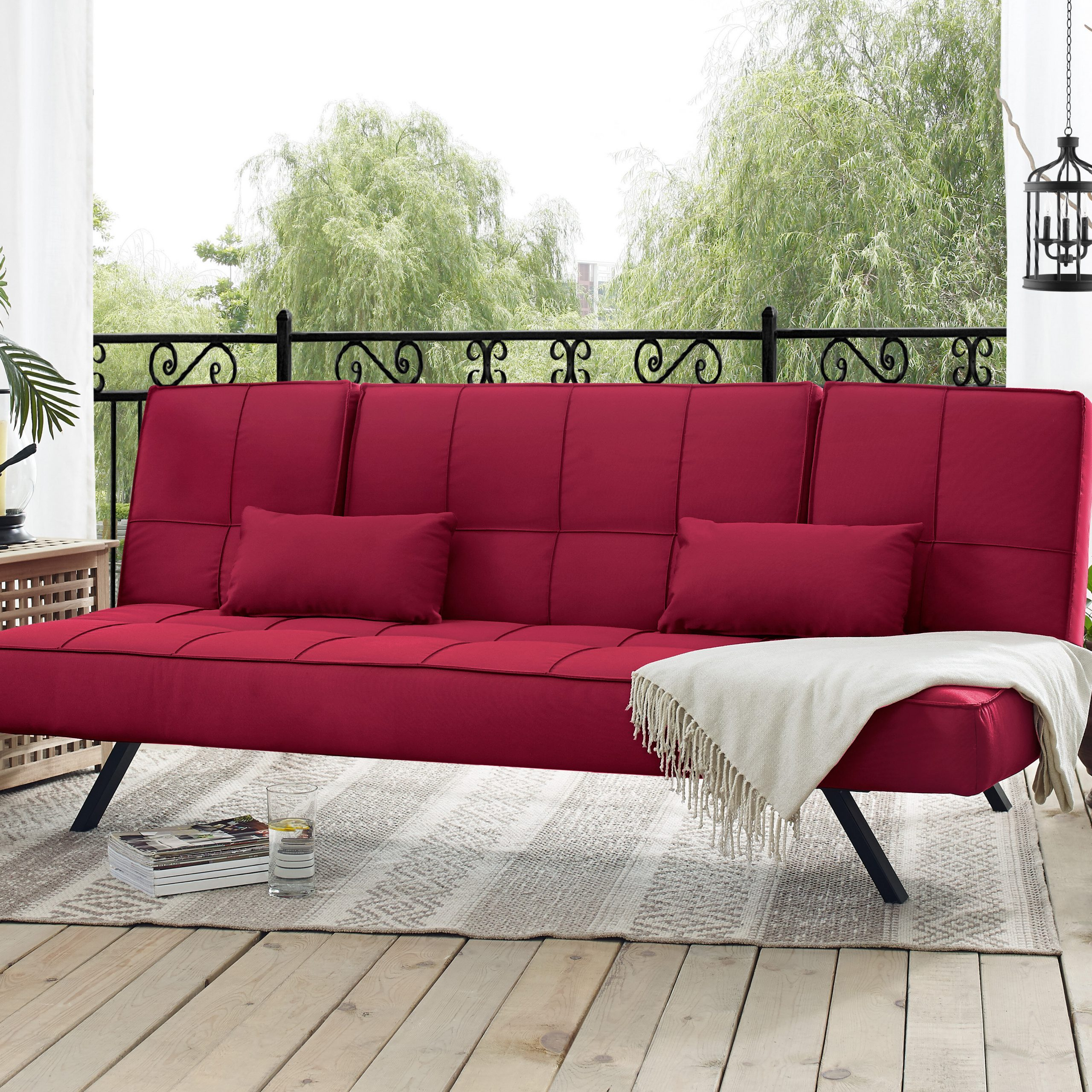 Well Liked Lobdell Patio Sofas With Cushions Throughout Patio Sofa With Cushions (Gallery 16 of 25)