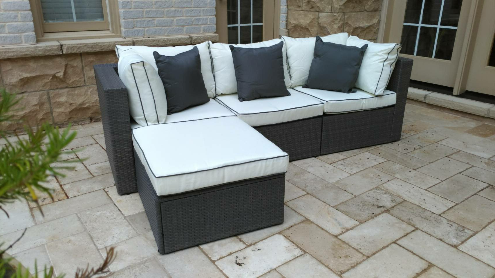 Well Liked Three Posts Burruss Patio Sectional With Cushions Throughout Fannin Patio Sofas With Cushions (Gallery 23 of 25)