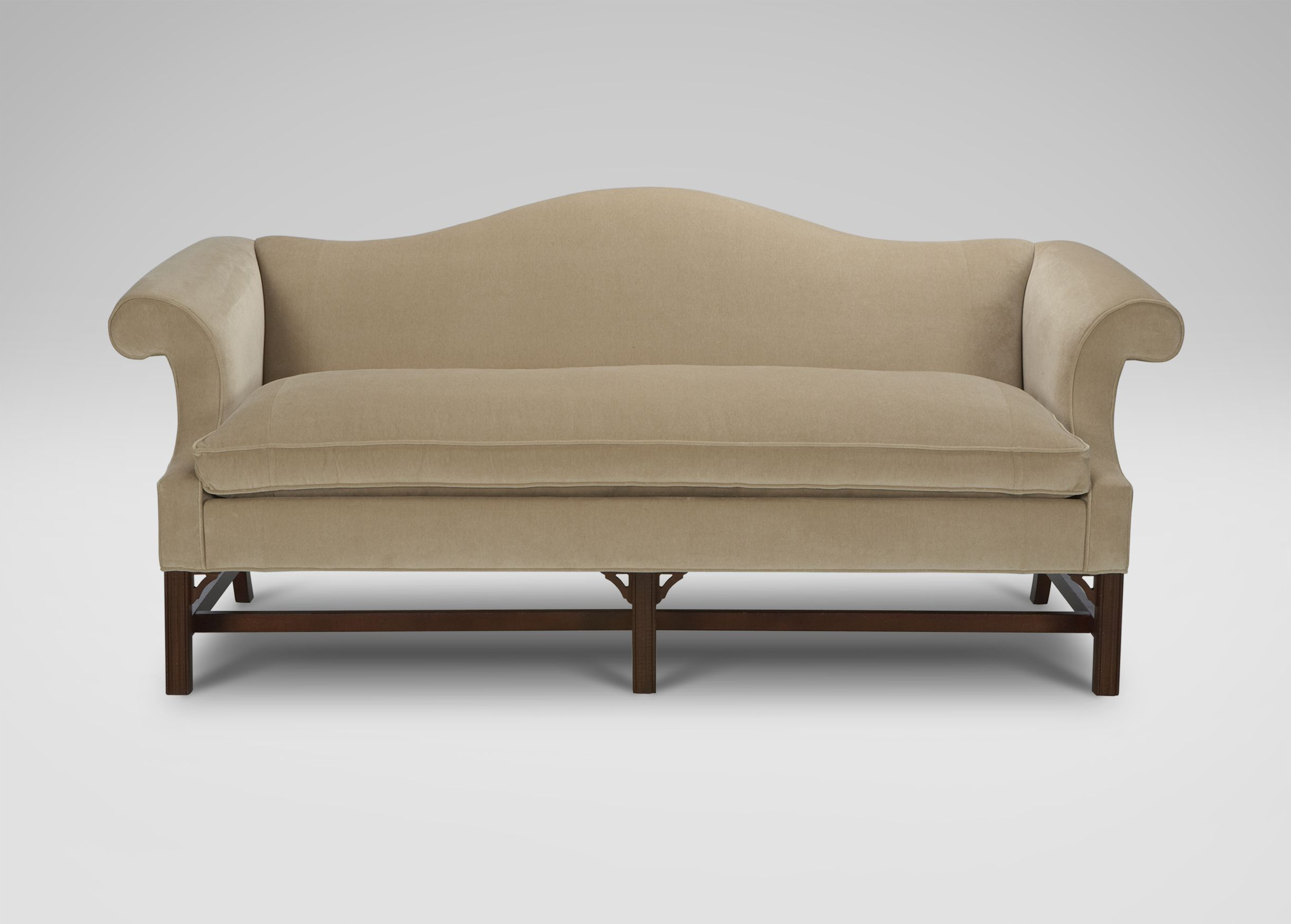 Well Liked Van Dyke Loveseats Within Chippendale Sofas – Ethan Allen. Oatmeal. 2k (View 5 of 25)