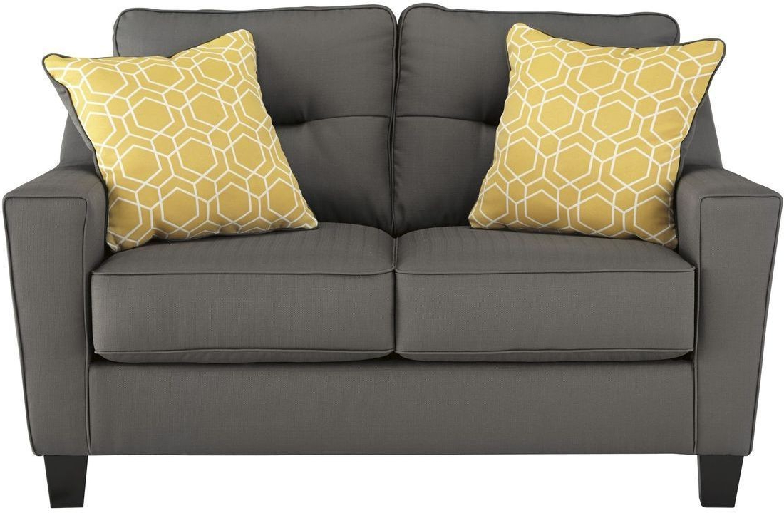 Widely Used Dayse Contemporary Loveseats With Cushion For Ashley Furniture Forsan Nuvella Loveseat In Gray (View 3 of 25)