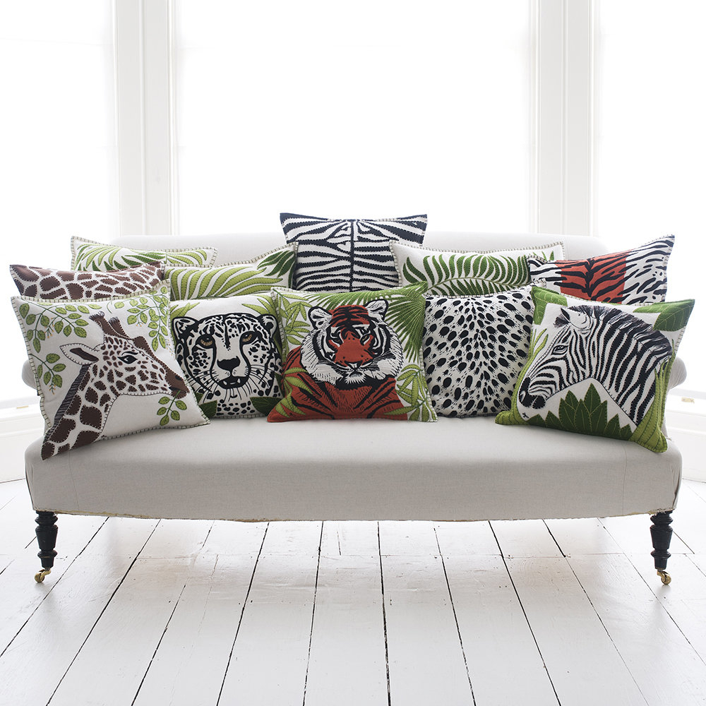 Widely Used Dayse Loveseats With Cushion Throughout Paradise Zebra Pillow – 46X46Cm (View 17 of 25)