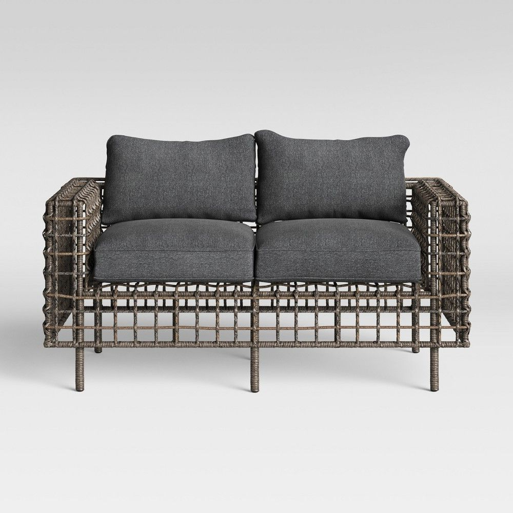 Widely Used Isler Patio Loveseat – Charcoal – Project 62 In  (View 25 of 25)