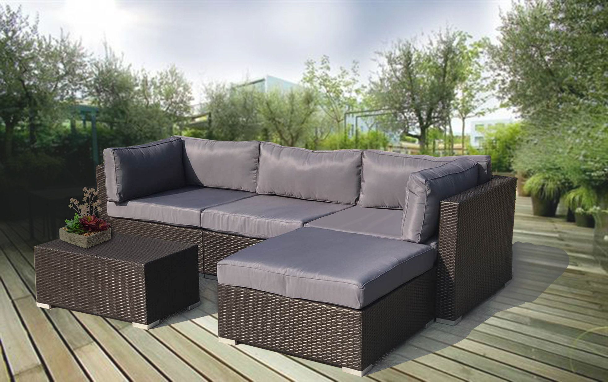 Widely Used Olinda 4 Piece Teak Sectionals Seating Group With Cushions Intended For Olinda 4 Piece Teak Sectional Seating Group With Cushions (View 16 of 25)