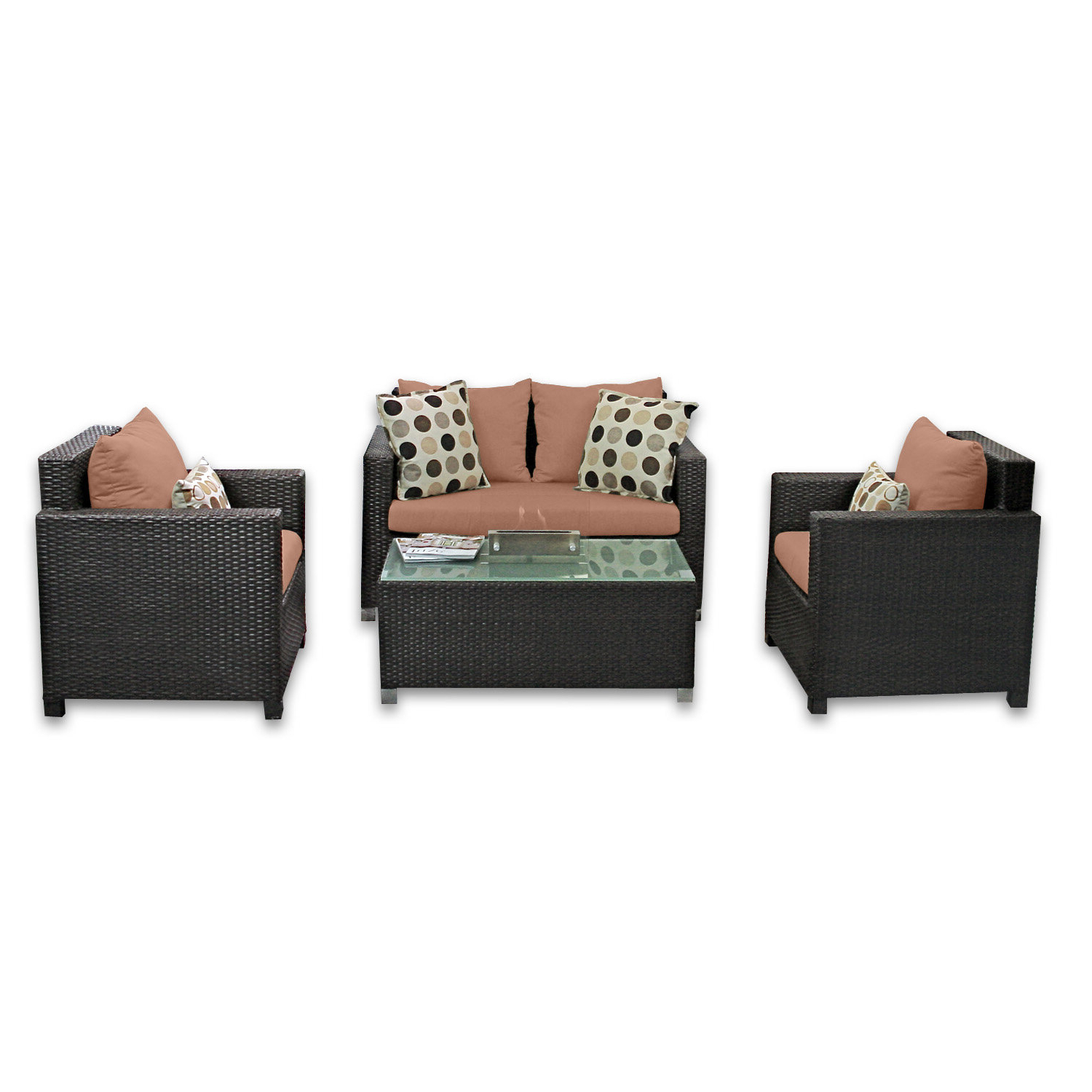Widely Used Skye Venice 4 Piece Sunbrella Sofa Set With Cushions For 4 Piece Sierra Sunbrella Seating Group (View 22 of 25)