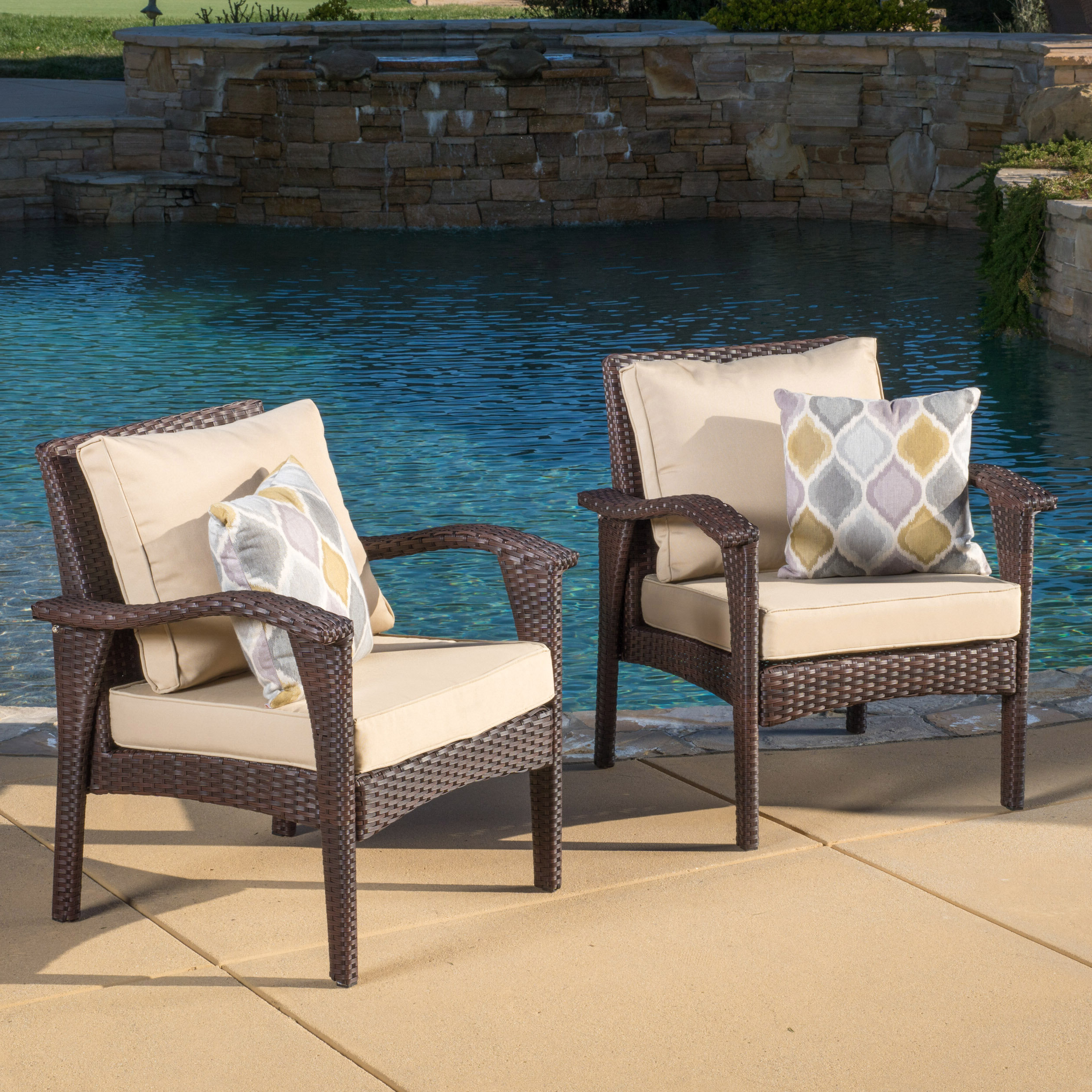 Widely Used Sol 72 Outdoor Hagler Patio Chair With Cushion & Reviews Regarding Hagler Outdoor Loveseats With Cushions (Gallery 13 of 25)