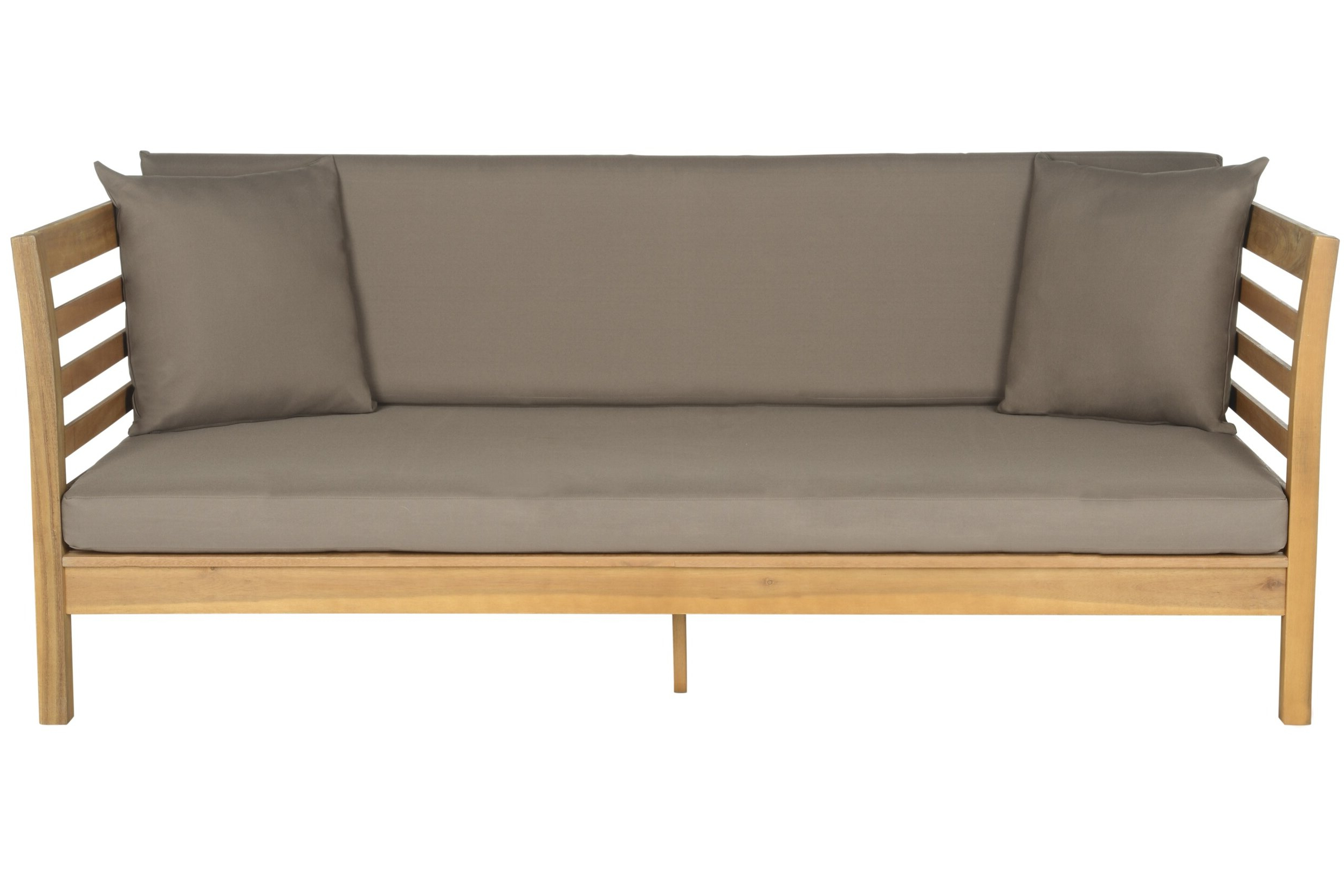Zeman Ultra Comfortable Upholstered Anodized Aluminum Loveseats With Cushion In Most Recently Released Beachcrest Home Bodine Patio Daybed With Cushions (View 20 of 25)