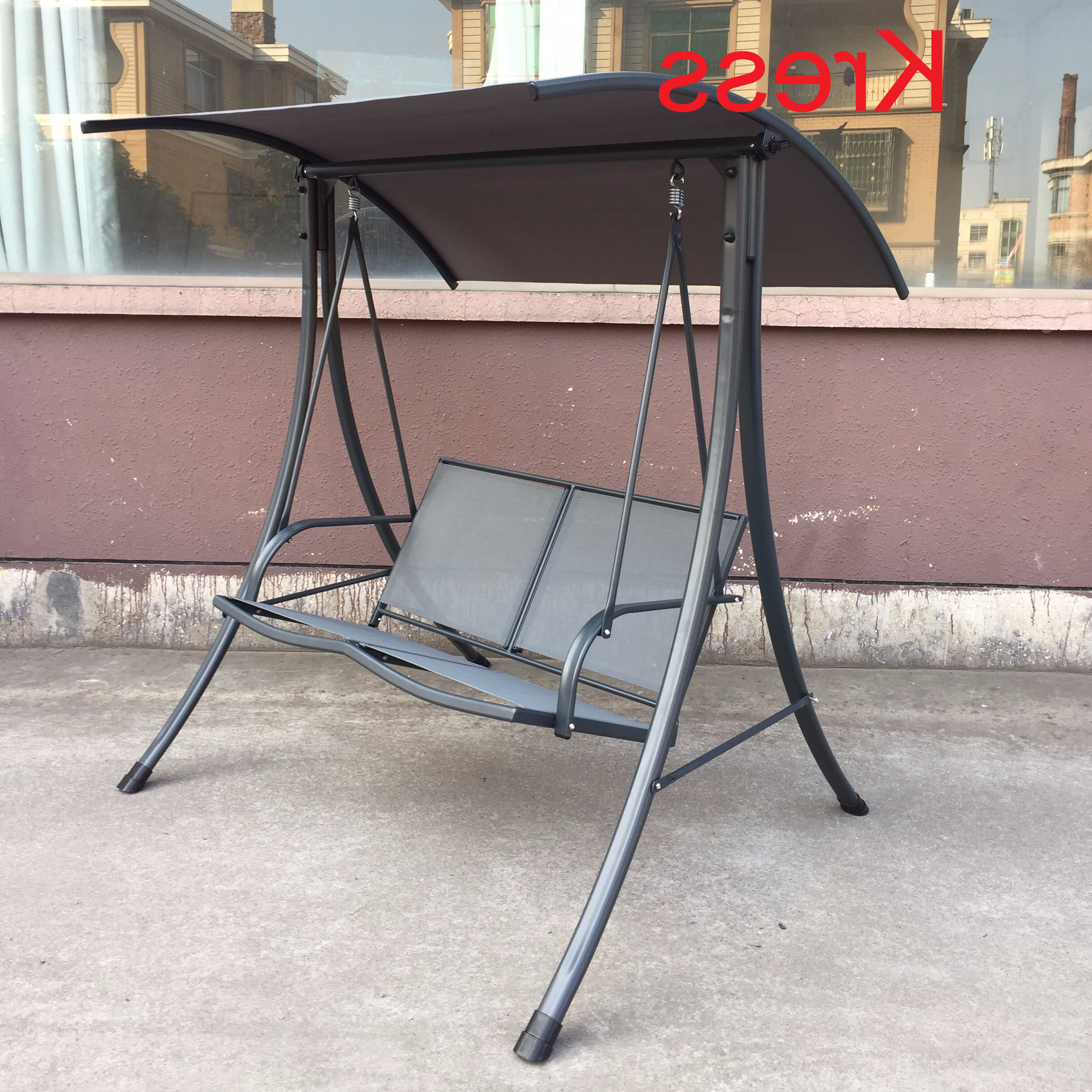 2 Person Gray Steel Outdoor Swings Inside Current Yard Patio Customized 2 Person Swing Chair Canopy Awning Hammock – Buy  2 Person Swing Chair,customized Swing Chair,swing Hammock Product On (View 1 of 25)