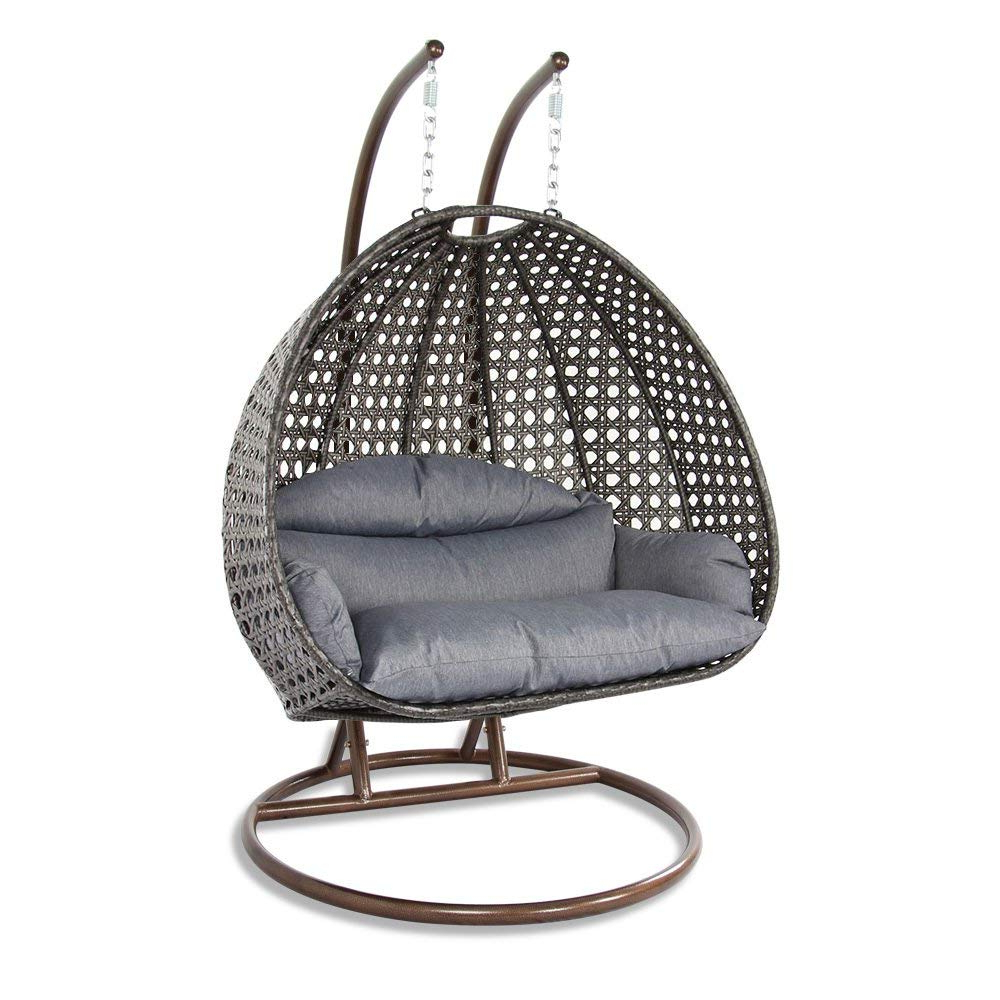 2 Person Gray Steel Outdoor Swings Inside Fashionable 12 Best Hanging Egg Chairs To Buy In 2020 – Outdoor & Indoor (View 2 of 25)