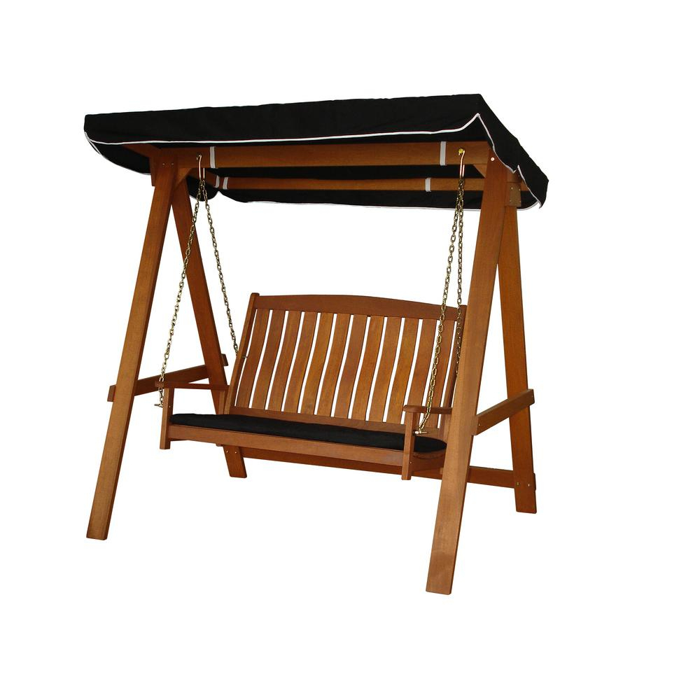 2 Person Light Teak Oil Wood Outdoor Swings With Regard To Best And Newest Lautan Avoca 2 Seat Swing (View 18 of 25)