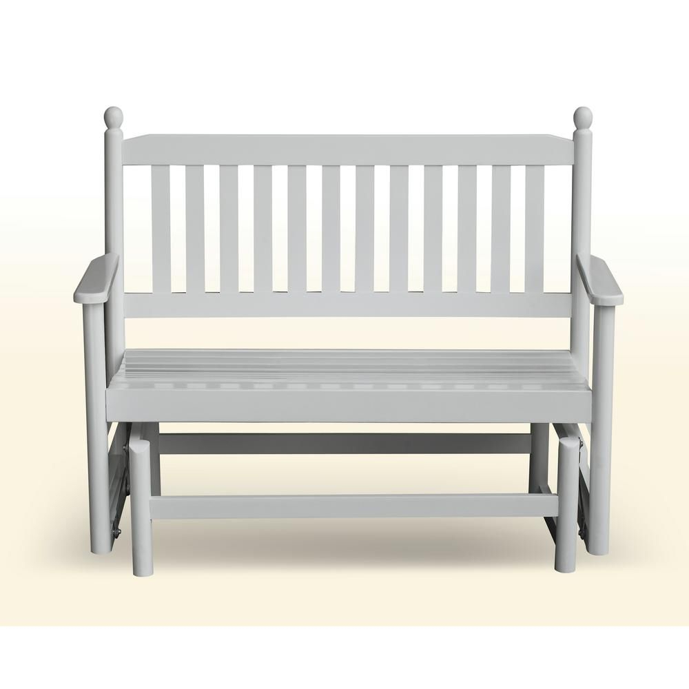2 Person Natural Cedar Wood Outdoor Gliders Within Latest Hinkle Chair Company 2 Person White Wood Outdoor Patio (View 13 of 25)