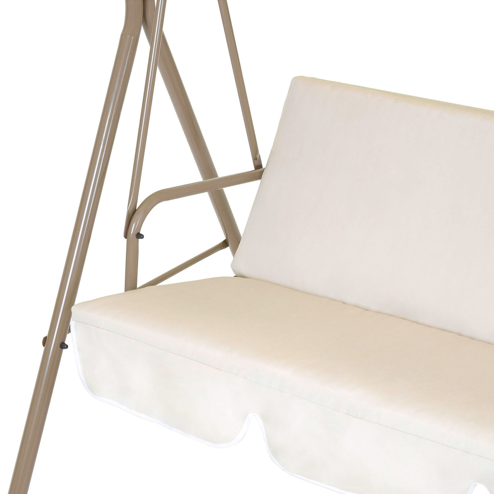 2 Person Outdoor Convertible Canopy Swing Gliders With Removable Cushions Beige Intended For Widely Used Bcp 2 Person Outdoor Canopy Swing Glider Furniture W/ Cushions, Steel Frame (View 8 of 25)