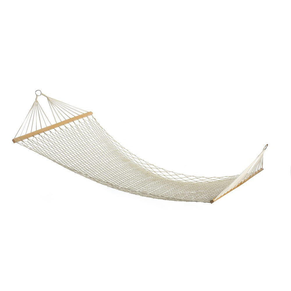 2019 Cotton Porch Swings Intended For Gsfy White Outdoor Mesh Cotton Rope Swing Hammock Hanging On The Porch Or On A Beach (View 13 of 25)