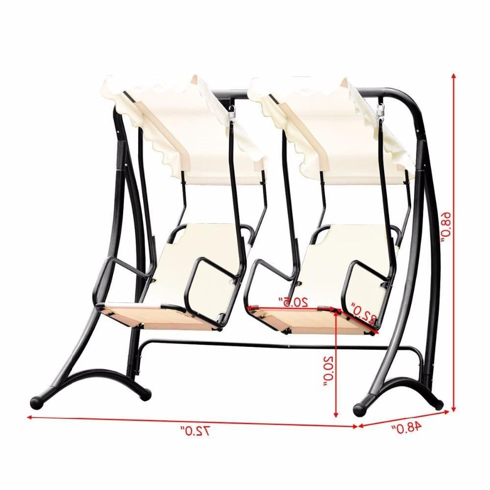 2020 Amazon : Tangkula Outdoor Patio Swing 2 Person Heavy Pertaining To 2 Person Hammock Porch Swing Patio Outdoor Hanging Loveseat Canopy Glider Swings (View 4 of 25)