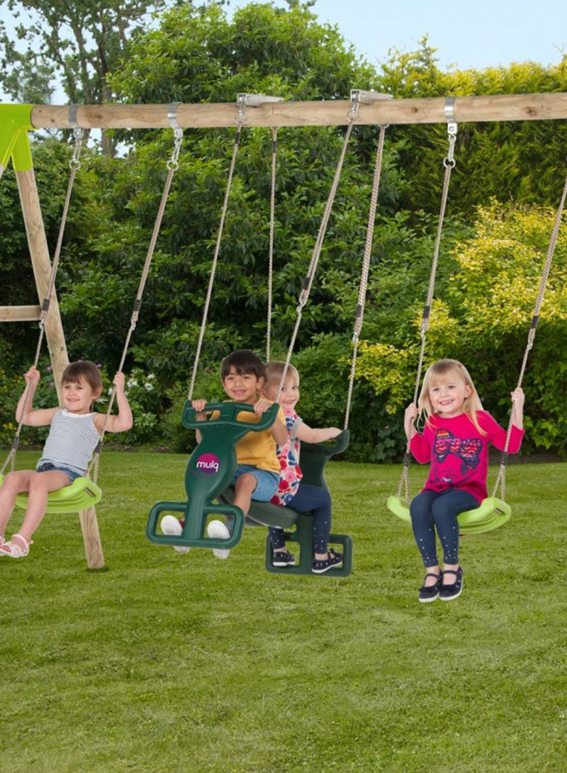 2020 Dual Rider Glider Swings With Soft Touch Rope With Regard To Shop Plum Vervet Wooden Swing Set Online In Dubai, Abu Dhabi (View 1 of 25)