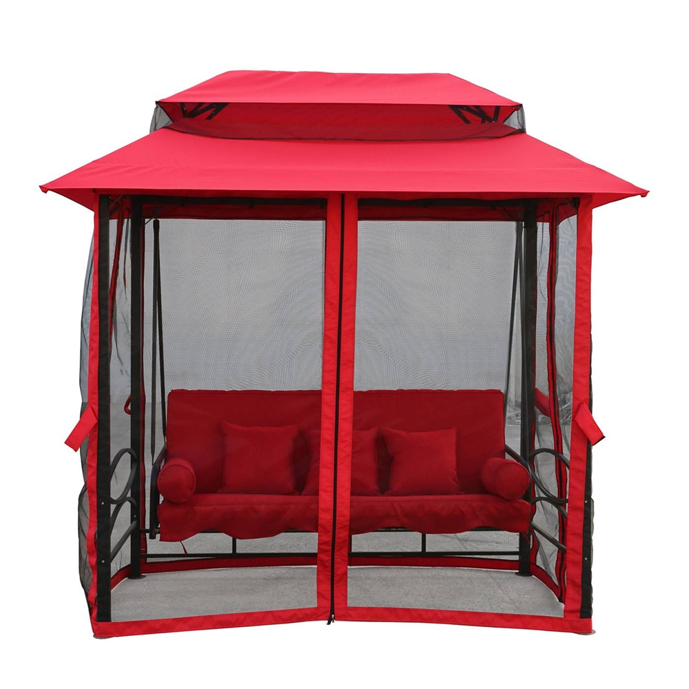 2020 Patio Gazebo Porch Canopy Swings Inside Patio Swing With Canopy (Gallery 21 of 25)