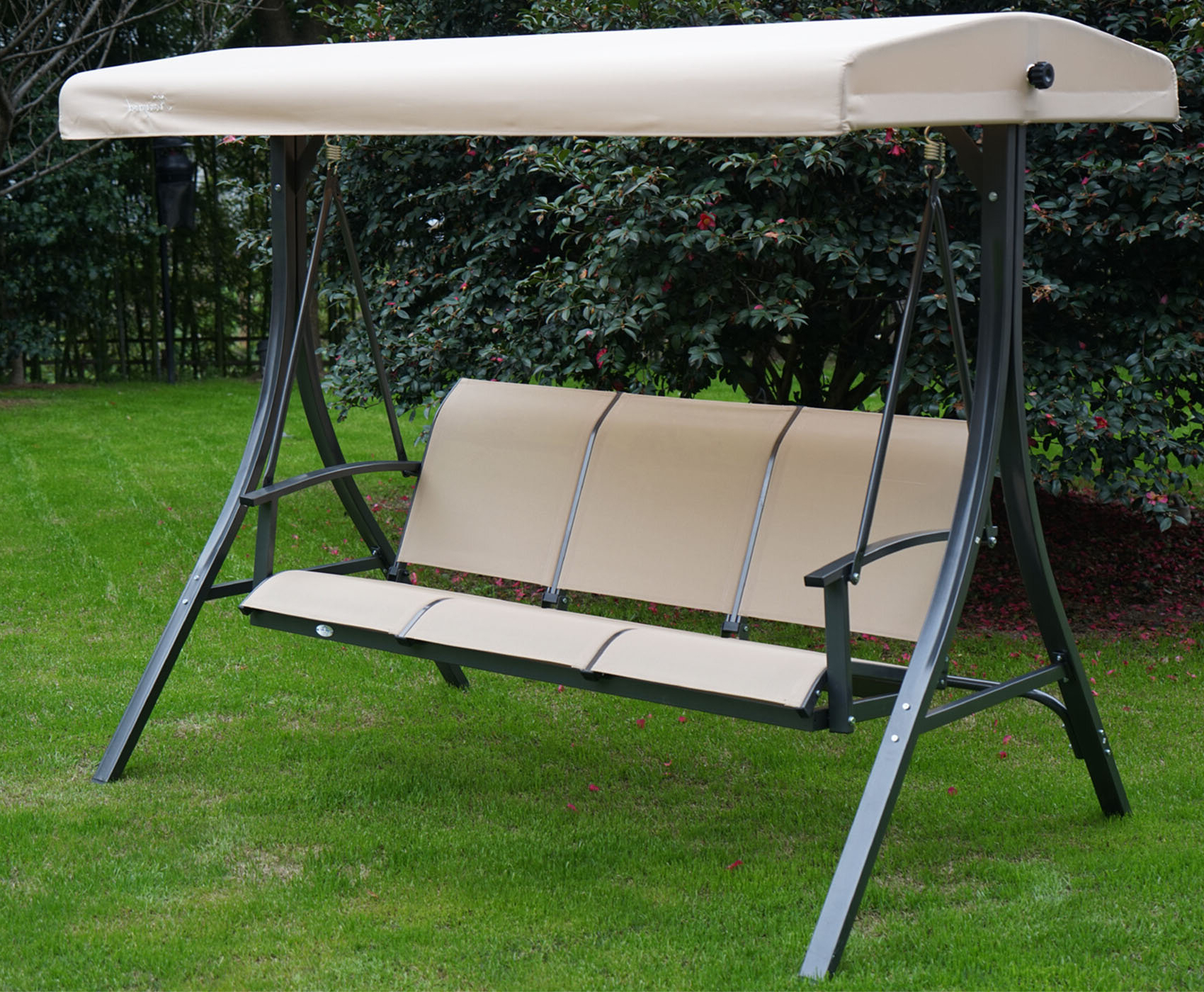 2020 Patio Porch Swings With Stand Pertaining To Otteridge Patio Porch Swing With Stand (View 7 of 25)