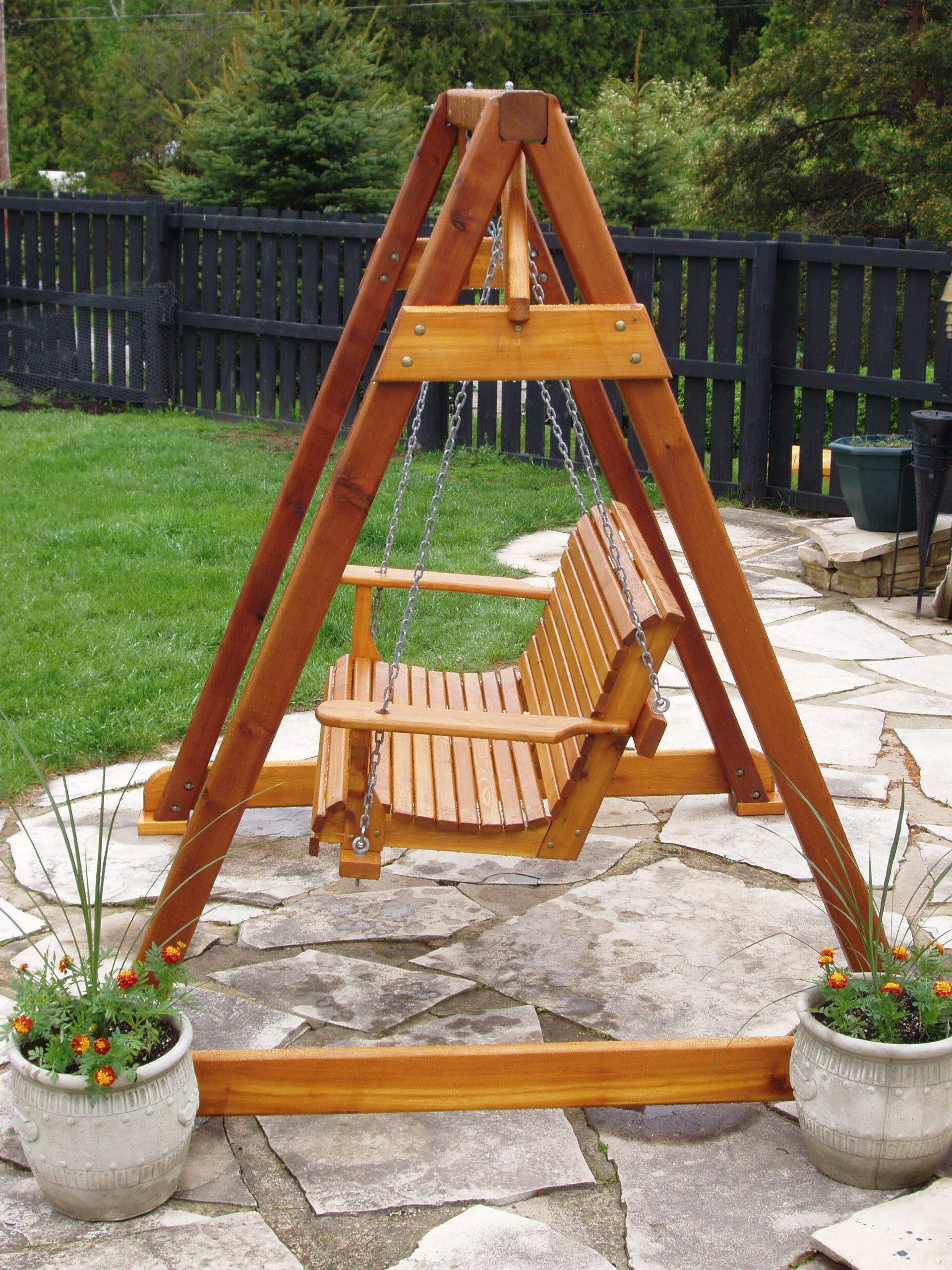 2020 Porch Swings With Stand Intended For Build Diy How To Build A Frame Porch Swing Stand Pdf Plans (View 6 of 25)