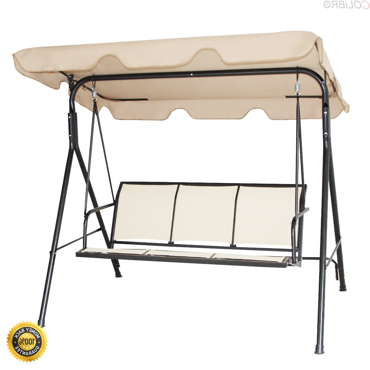 3 Person Brown Steel Outdoor Swings Within Most Up To Date Cheap 3 Person Outdoor Swing With Canopy, Find 3 Person (View 18 of 25)