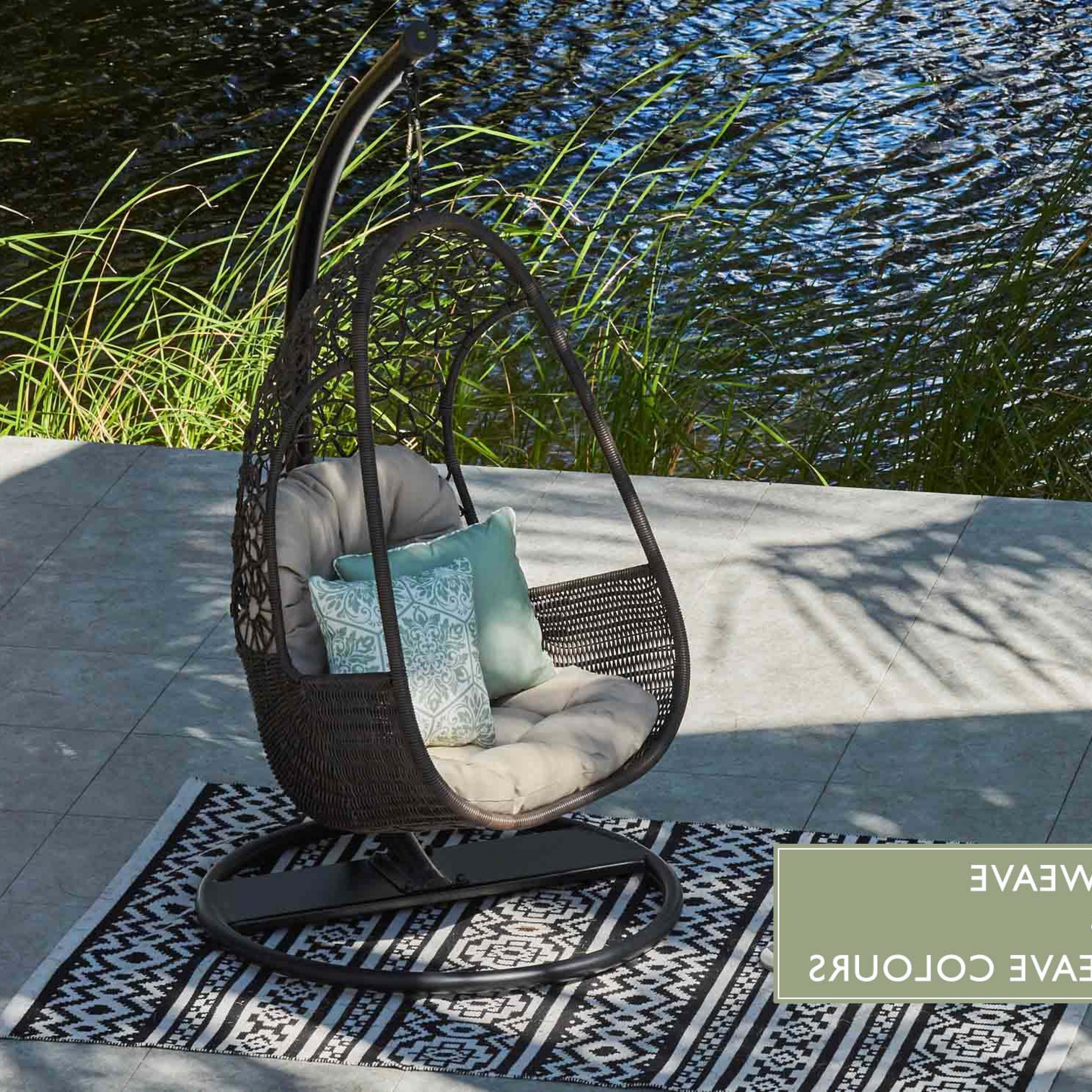 3 Person Red With Brown Powder Coated Frame Steel Outdoor Swings With Fashionable Swing Chair (Gallery 23 of 25)