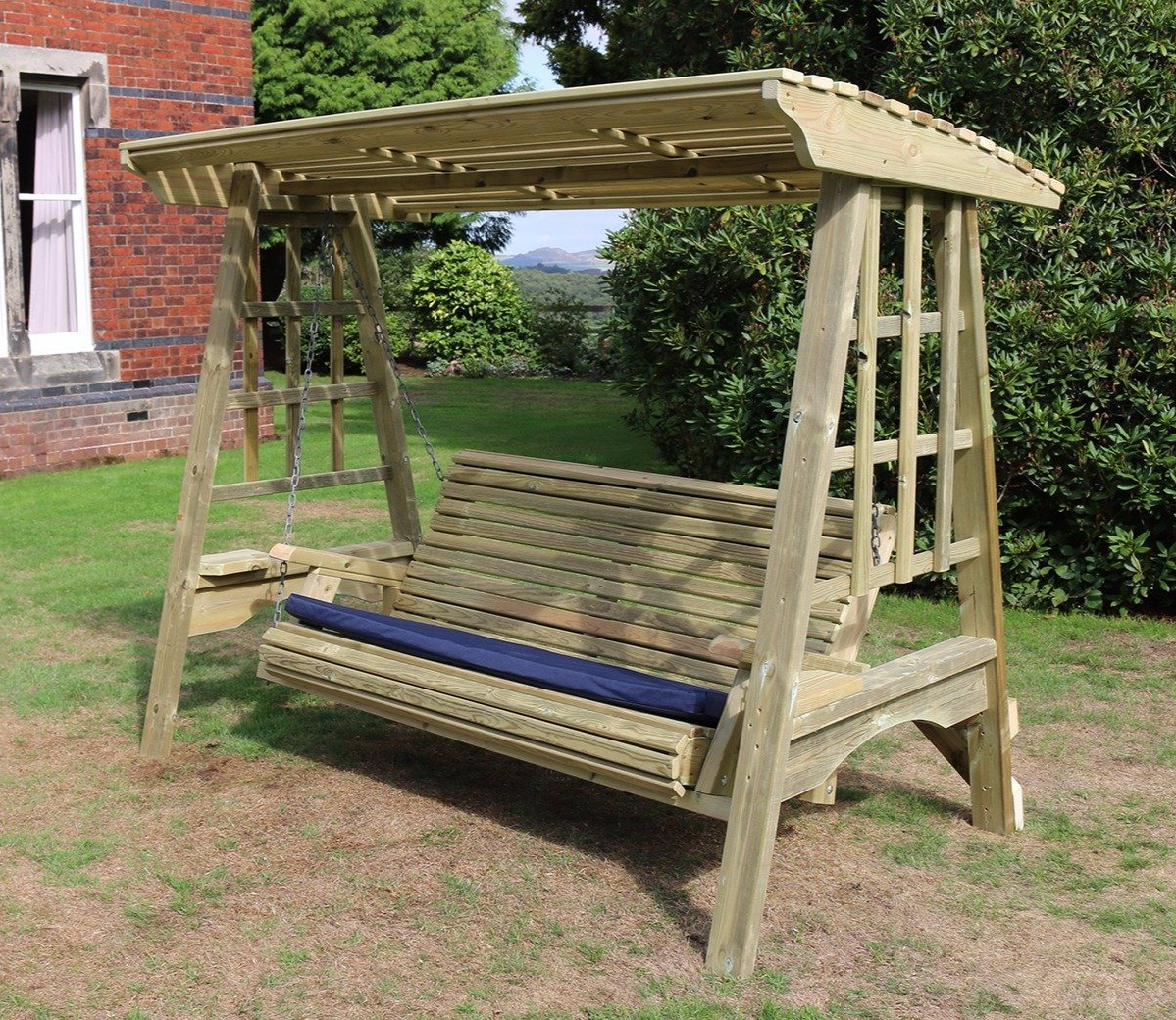 3 Seat Pergola Swings In Trendy Churnet Valley Antoinette 3 Seater Swing (Gallery 11 of 25)