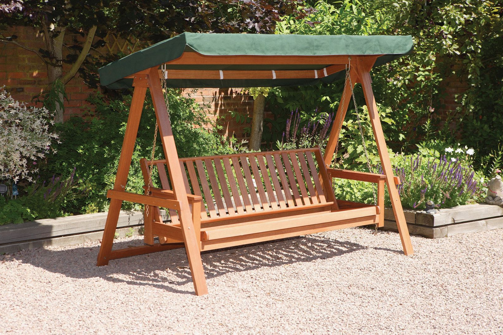 3 Seat Pergola Swings Intended For 2020 Quality Wooden 3 Seater Garden Swing Bed Hammock – Swing (Gallery 1 of 25)