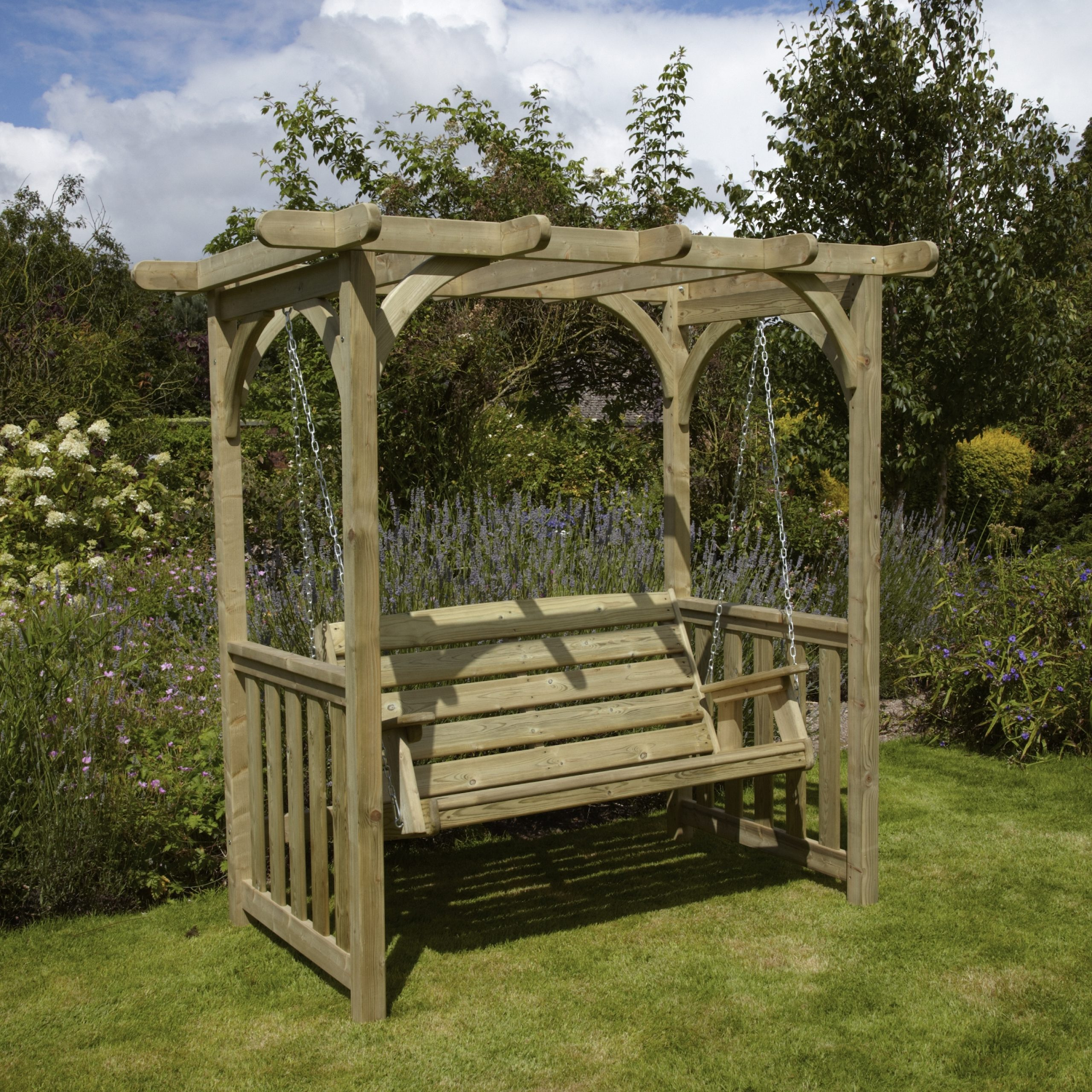 3 Seat Pergola Swings Pertaining To 2019 Woodshaw Appleton Swing Arbour (Gallery 10 of 25)