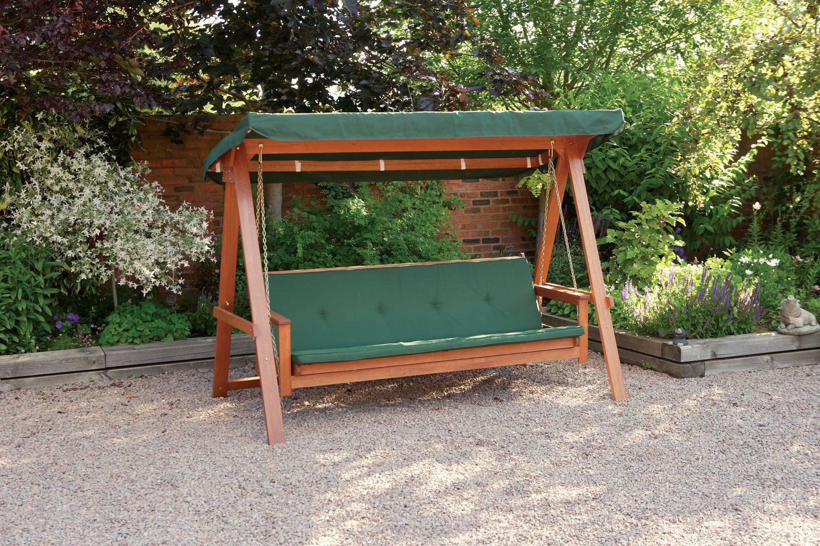 3 Seat Pergola Swings Pertaining To Most Recent Quality Wooden Swing Bed 3 Seater Garden Swing Seat With (View 4 of 25)