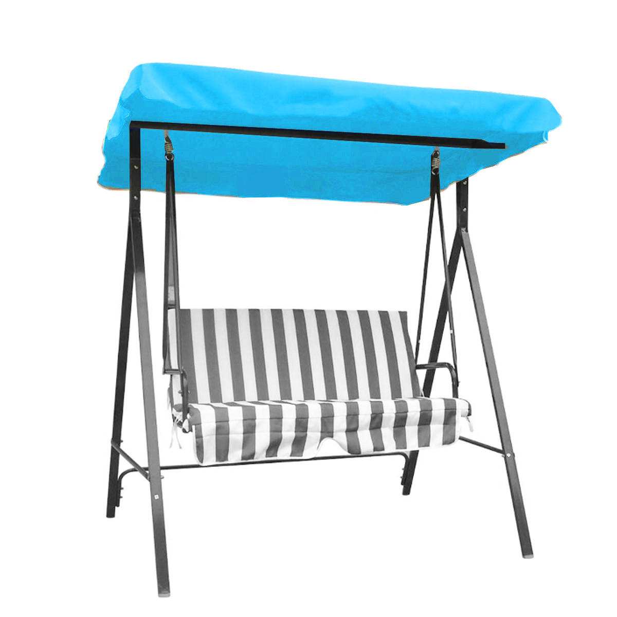 3 Seats Patio Canopy Swing Gliders Hammock Cushioned Steel Frame With Regard To Recent Outdoor 3 Seater Garden Swing Chair Replacement Canopy Spare (View 19 of 25)