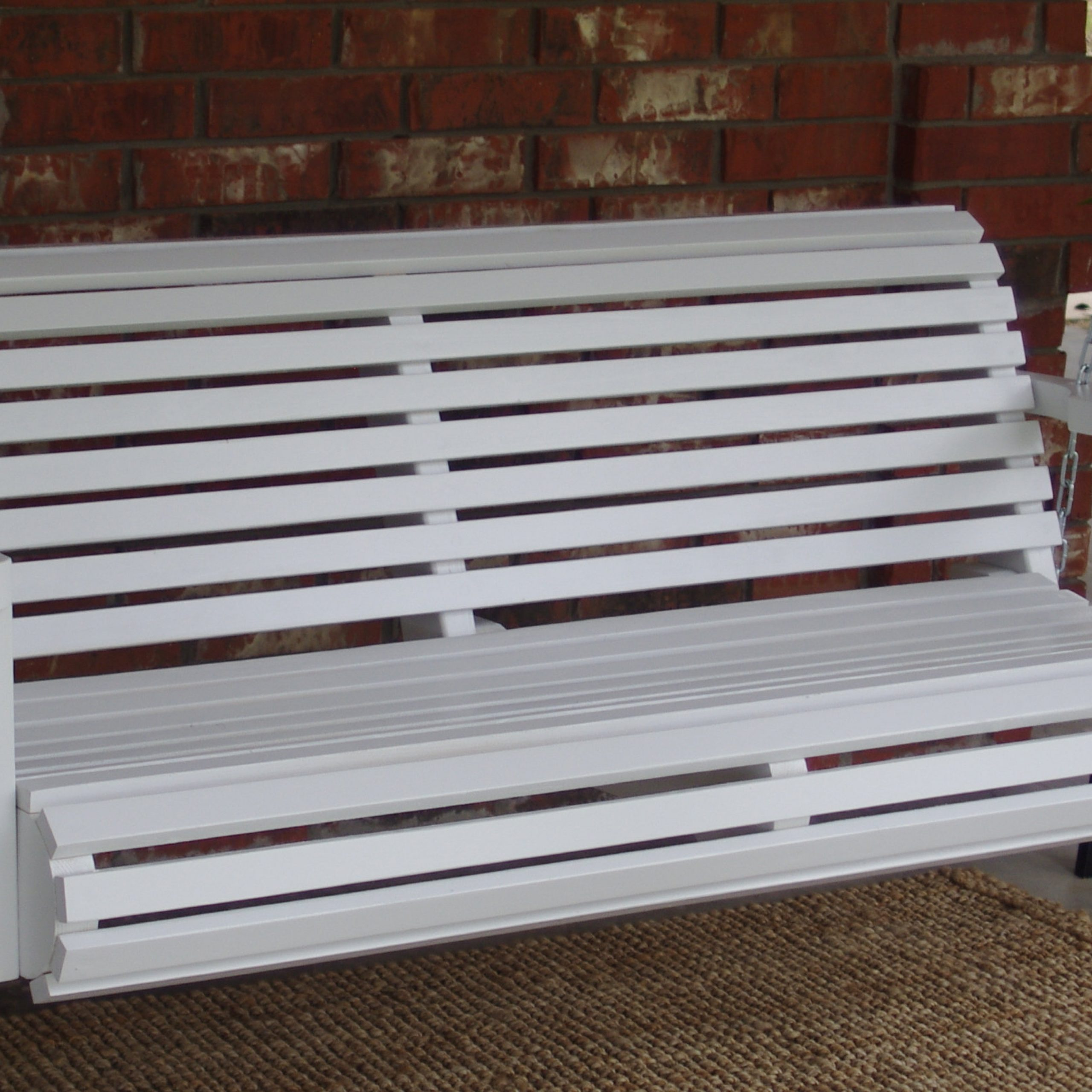 5 Ft Cedar Swings With Springs For Most Up To Date Brand New 5 Foot Painted Contoured Classic White Porch Swing – With Hanging Chain Or Rope – Free Shipping (View 16 of 25)