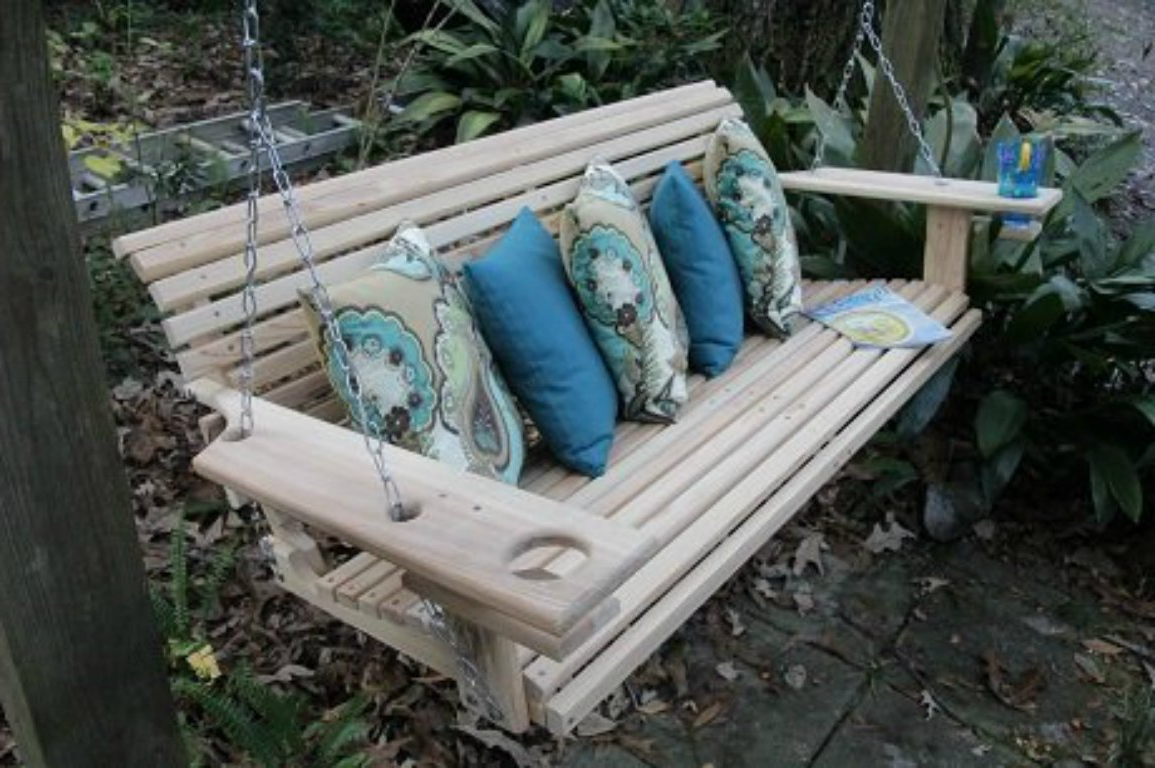 5 Ft Cedar Swings With Springs Regarding 2019 Patio And Porch Swings – Come Sit A Spell (View 20 of 25)
