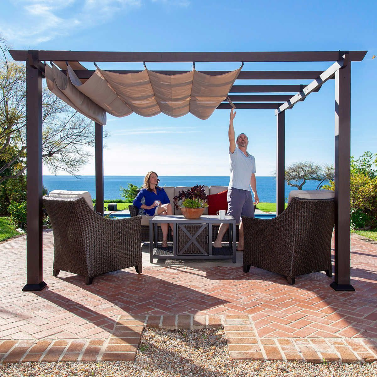 A4 Ft Cedar Pergola Swings Within Most Up To Date Pin About Pergola Curtains, Aluminum Pergola And Pergola (View 5 of 25)