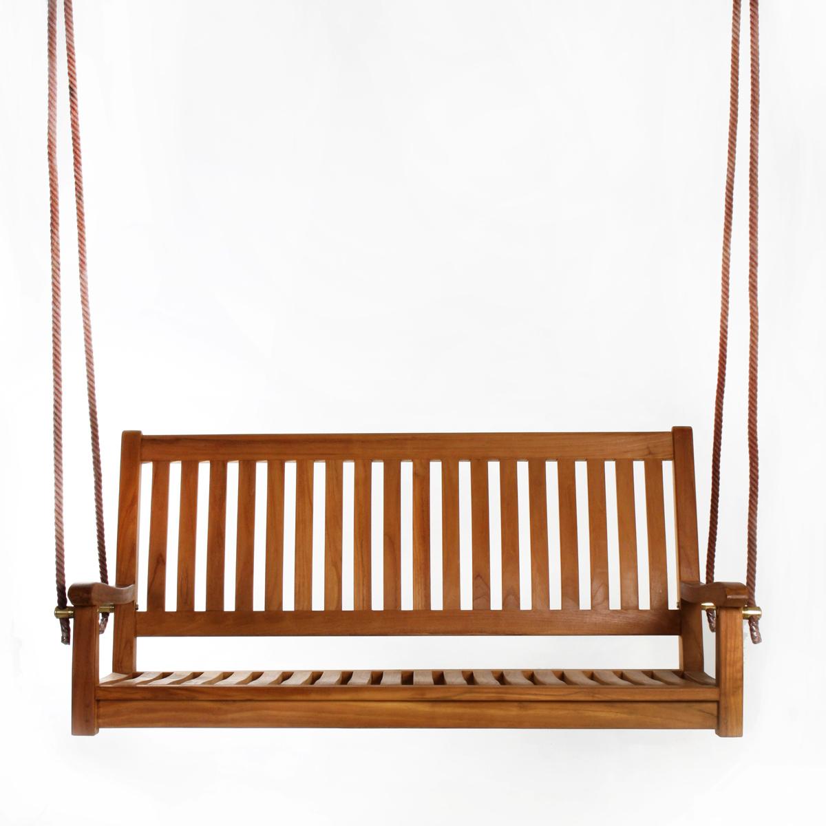 All Things Cedar 26 In X 54 In Brown Teak Swing With Regard To Preferred Teak Porch Swings (Gallery 12 of 25)