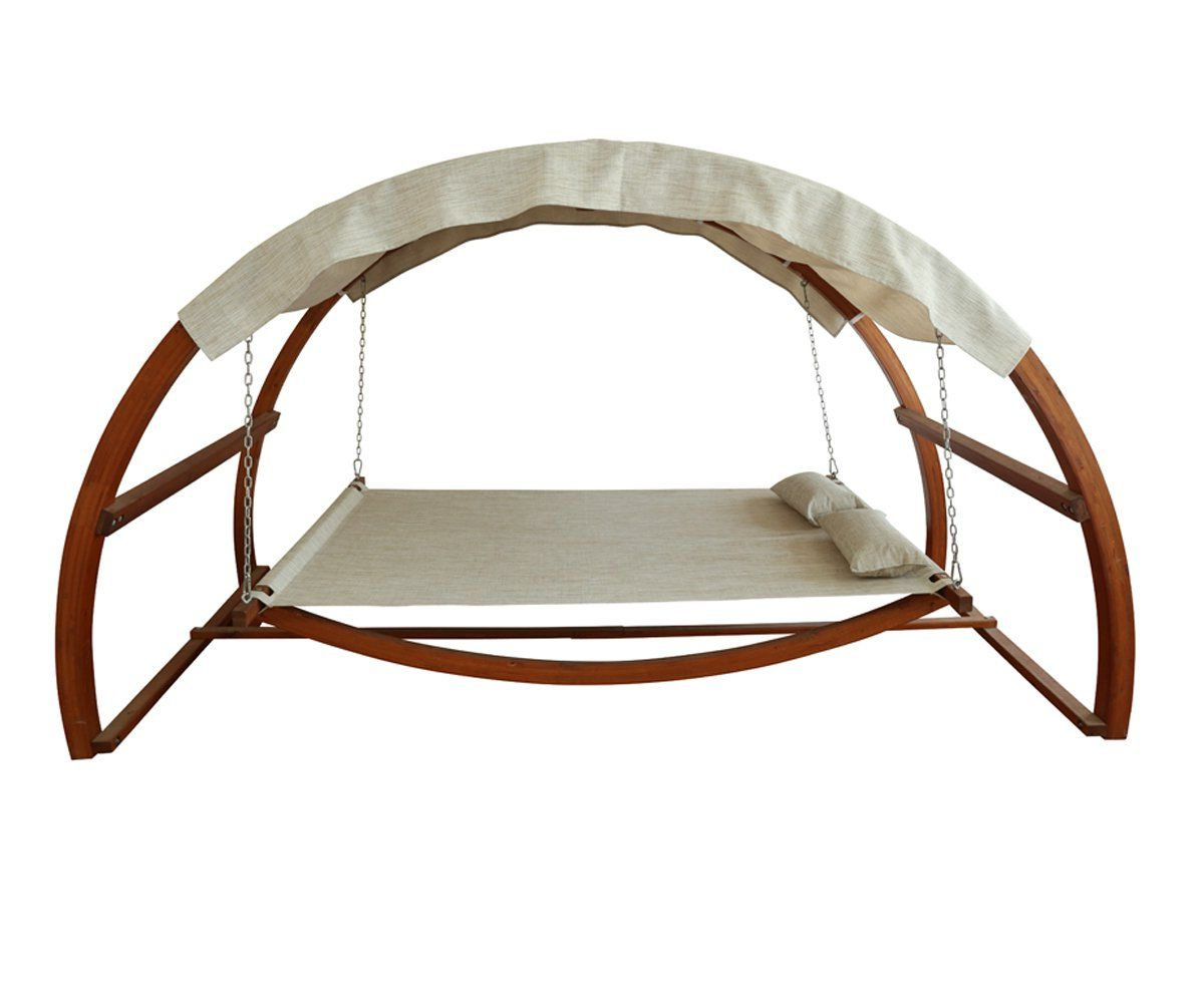 Amazon : Leisure Season Sbwc402 Swing Bed With Canopy Regarding 2019 Garden Leisure Outdoor Hammock Patio Canopy Rocking Chairs (View 20 of 25)