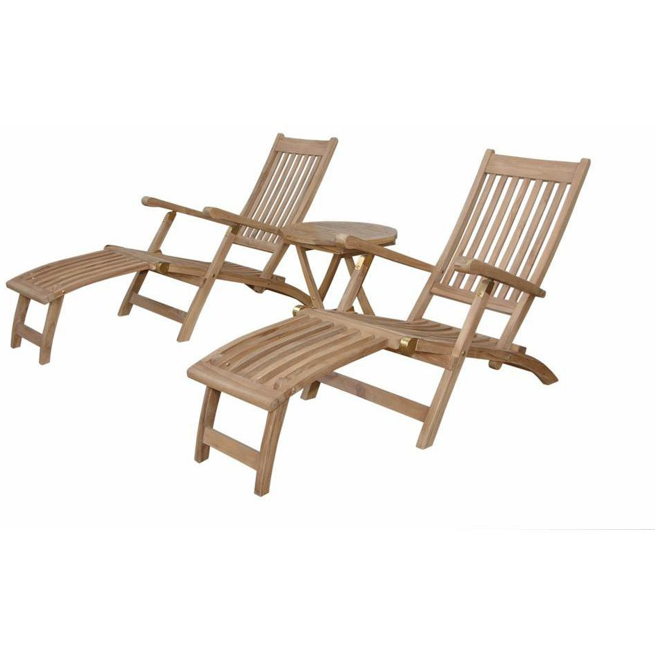 Anderson Teak Tropicana Montage Teak 2 Person Steamer Patio Intended For Most Recently Released 2 Person Light Teak Oil Wood Outdoor Swings (Gallery 7 of 25)