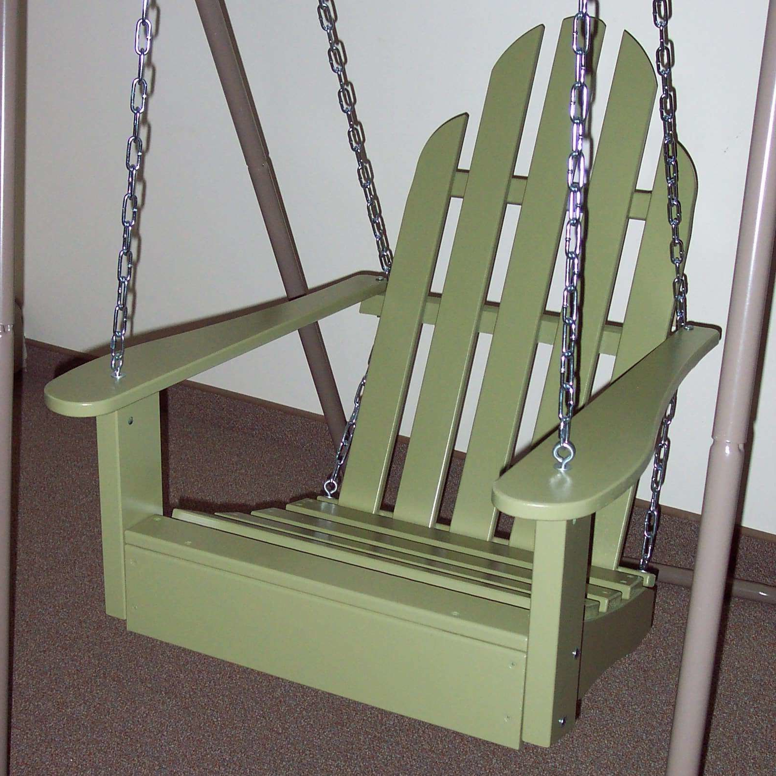 Arianna Hardwood Hanging Porch Swing With Stand (View 15 of 25)