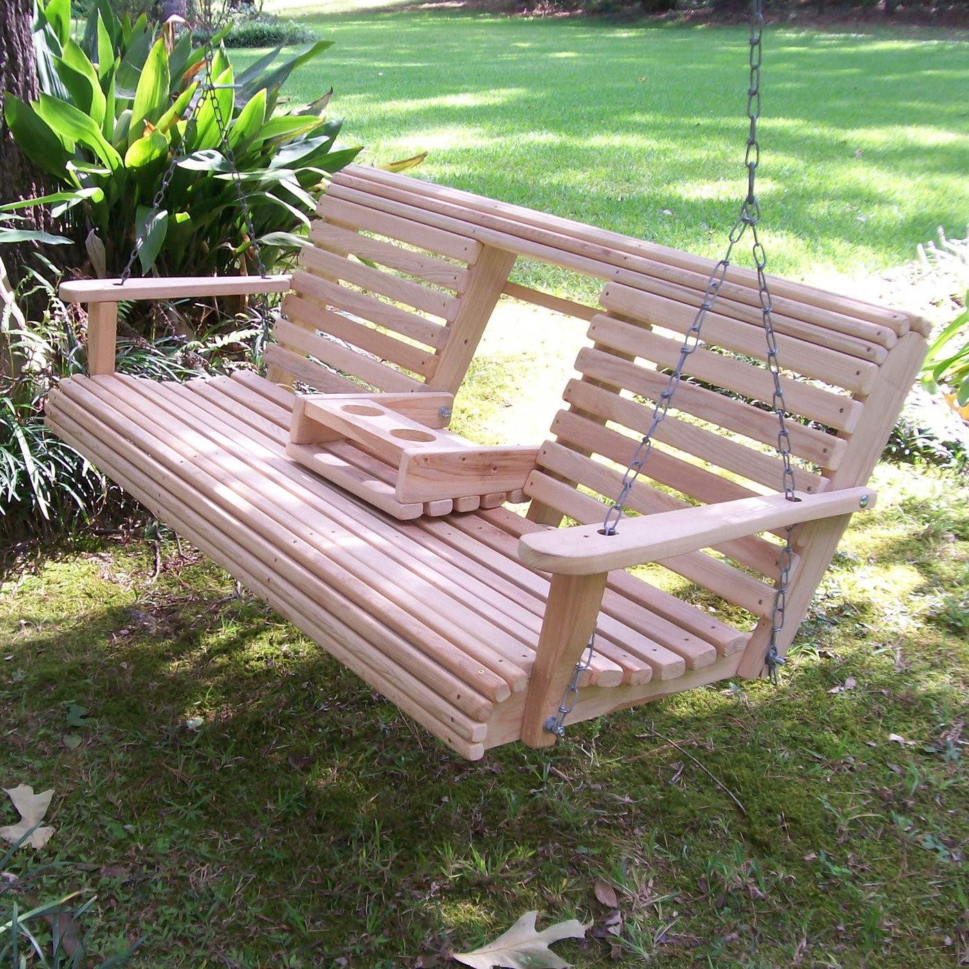 Beautifully Garden Swings That Everyone Will Like (photo Intended For Favorite Canopy Patio Porch Swings With Pillows And Cup Holders (View 14 of 25)