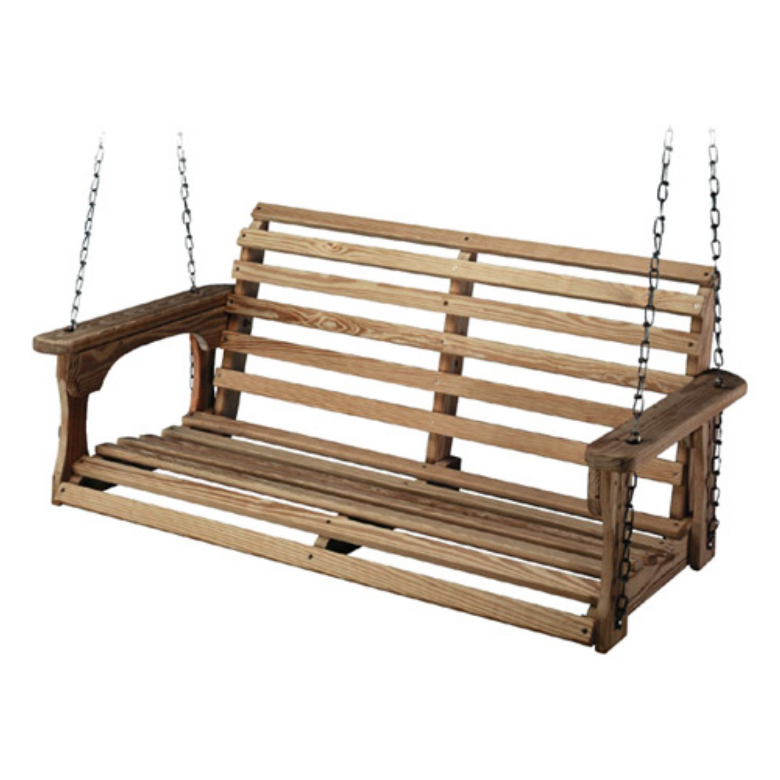 Beecham Swing Co. Roll Back Treated Wood Porch Swing In 2019 Within Famous Fordyce Porch Swings (Gallery 8 of 25)