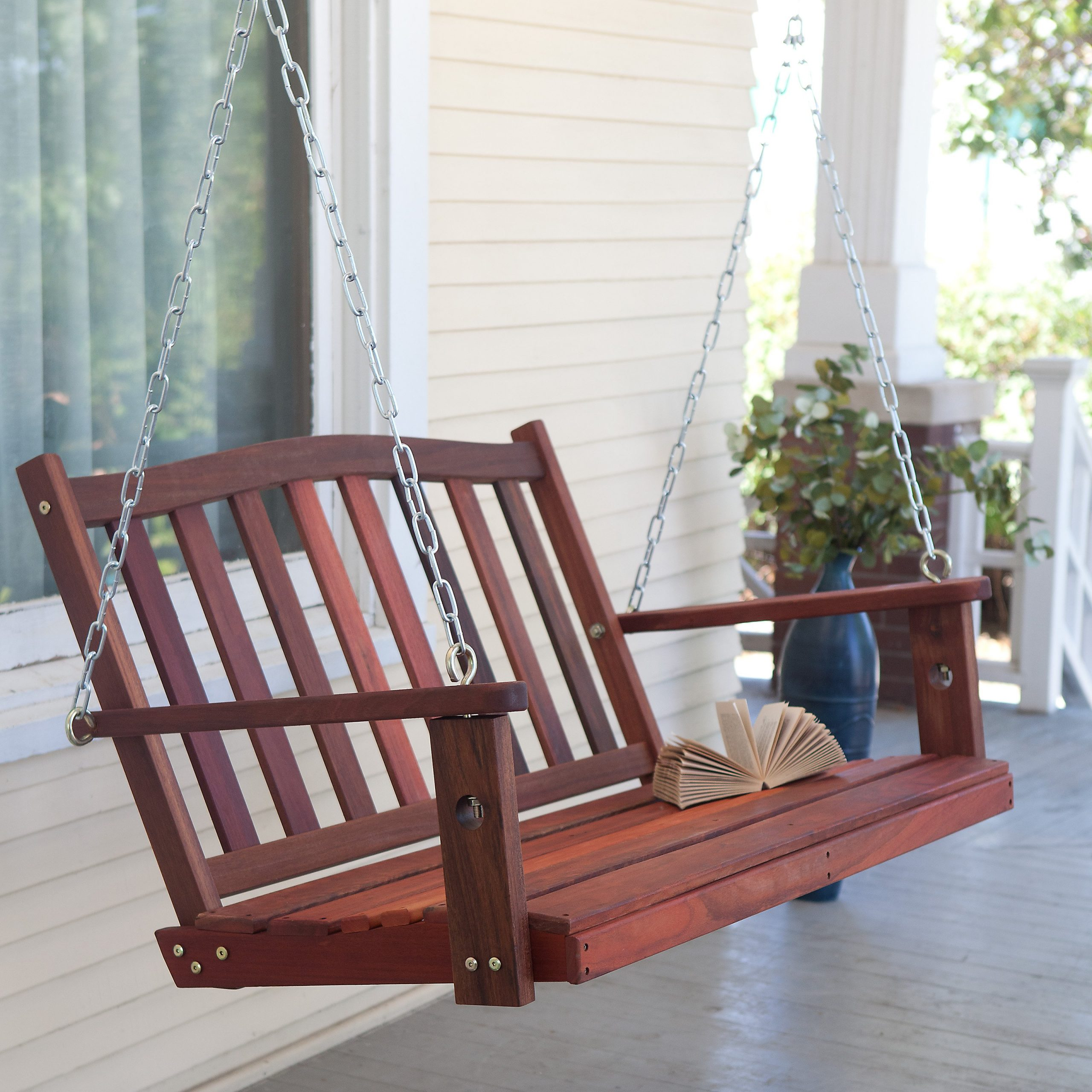Belham Living Richmond Curve Back Porch Swing With Optional Cushion – Walmart In Most Current Classic Porch Swings (View 10 of 25)
