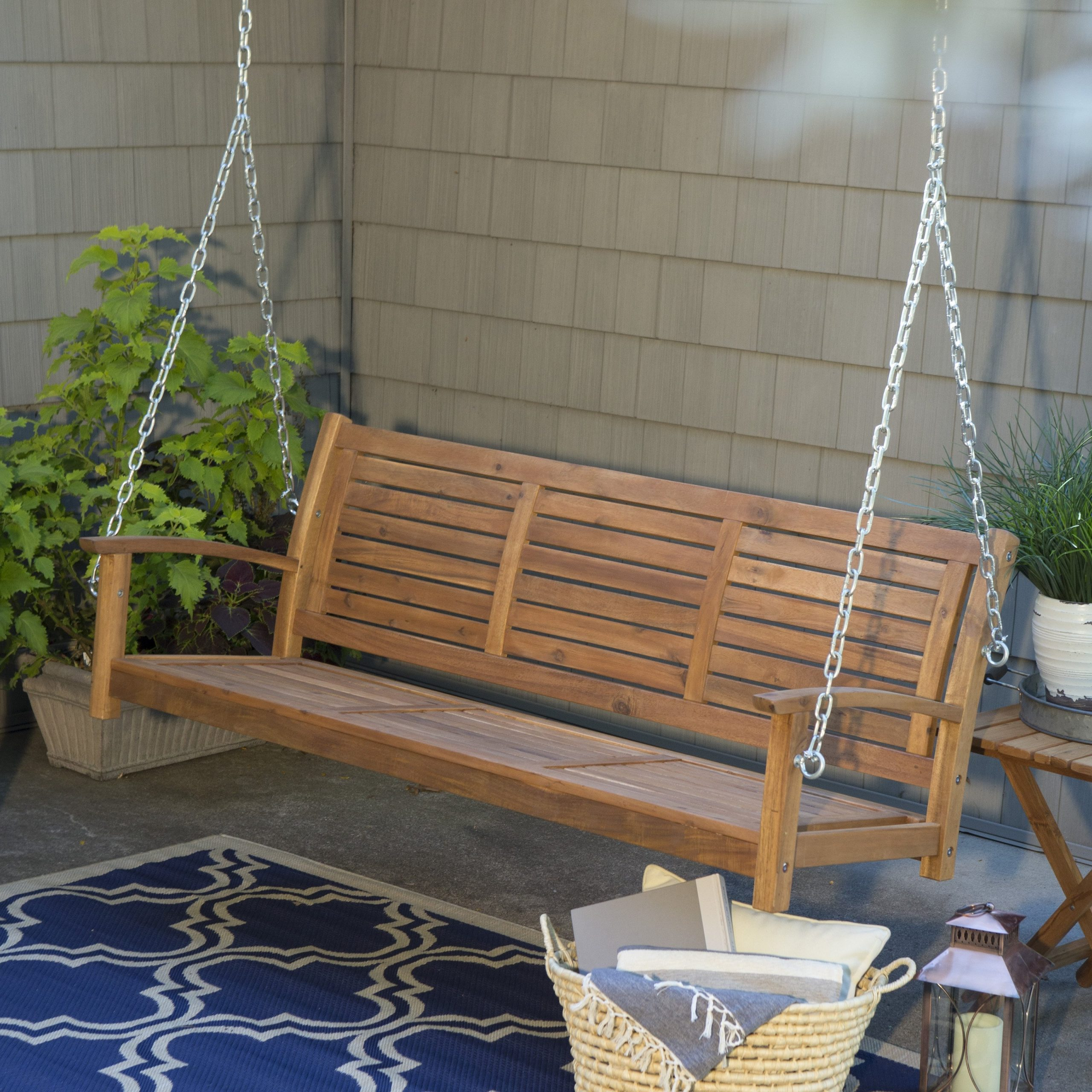 Best And Newest Hanging Chain For Porch Swing Pertaining To Porch Swings With Chain (View 14 of 26)