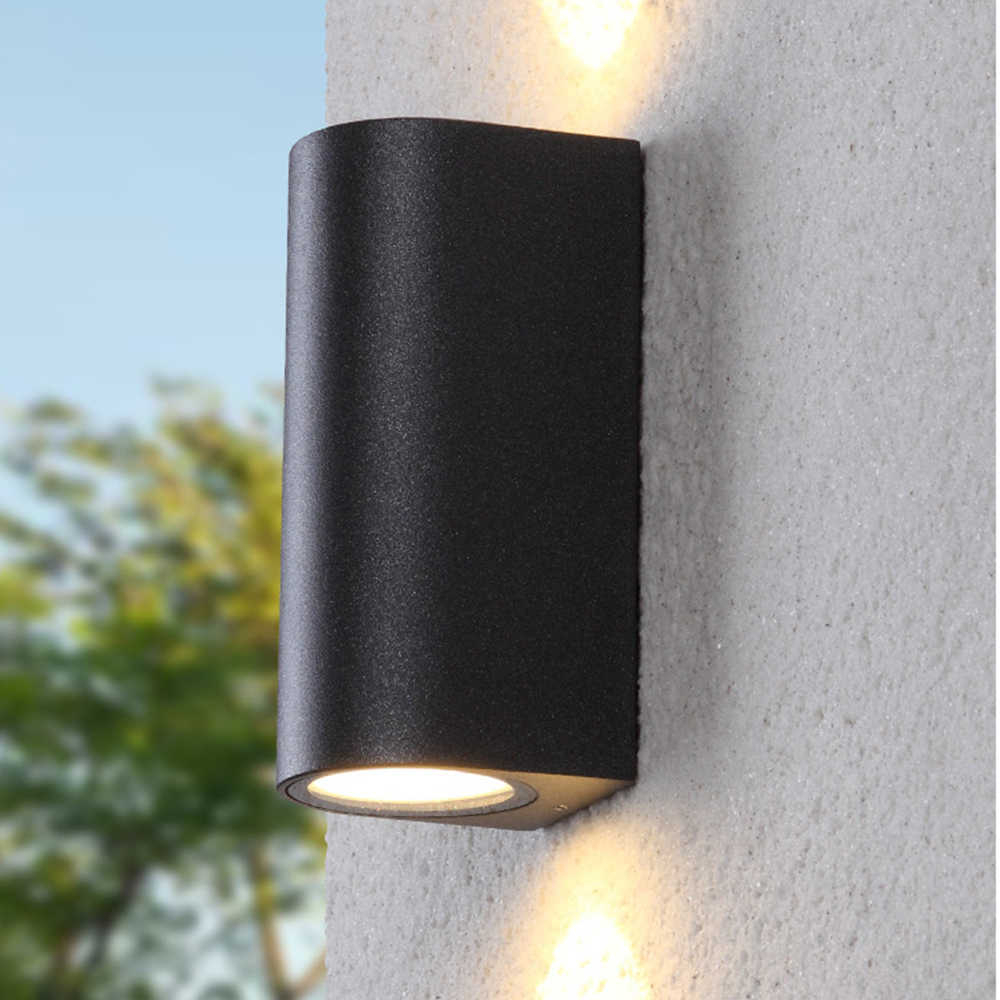 Best And Newest Lamp Outdoor Porch Swings Pertaining To 220V 110V Light Ip44 Led Black Outdoor Wall Lamp Exterior (View 16 of 25)
