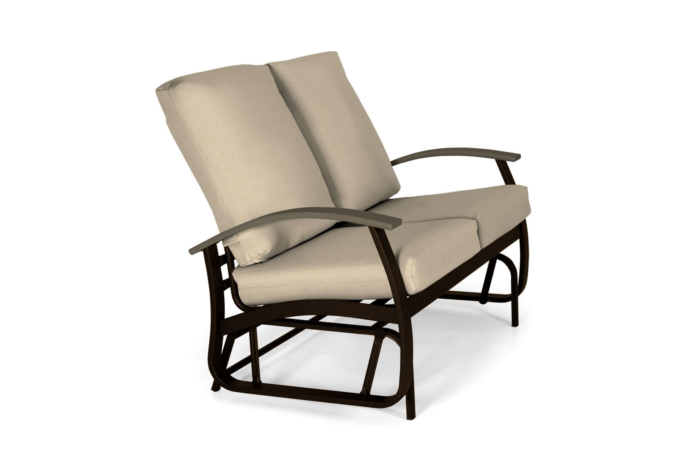 Best And Newest Outdoor Loveseat Gliders With Cushion Regarding Belle Isle Cushion Loveseat Glider (View 22 of 25)