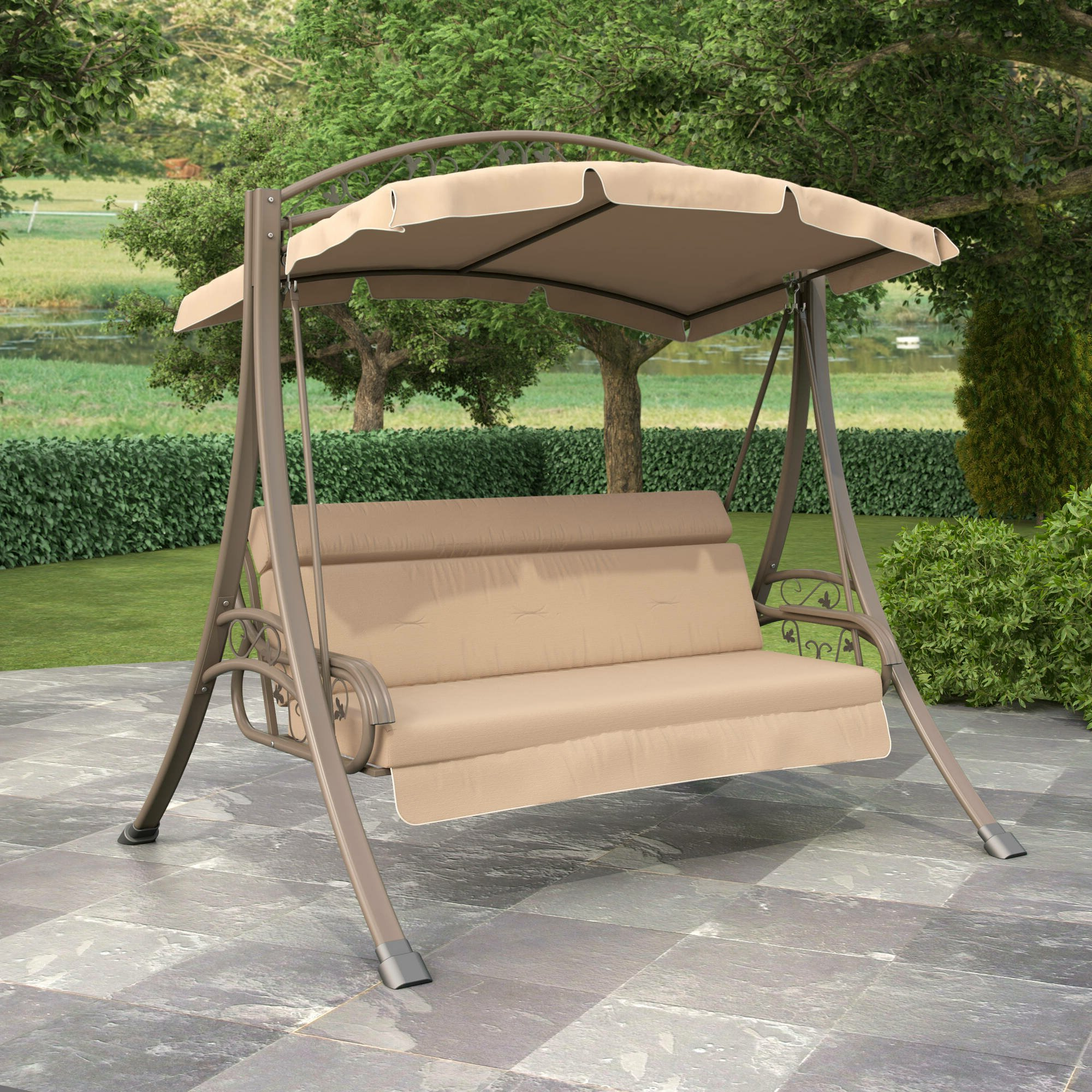 Best And Newest Patio Gazebo Porch Canopy Swings With Regard To Patio Garden Swings Ebay (View 18 of 25)