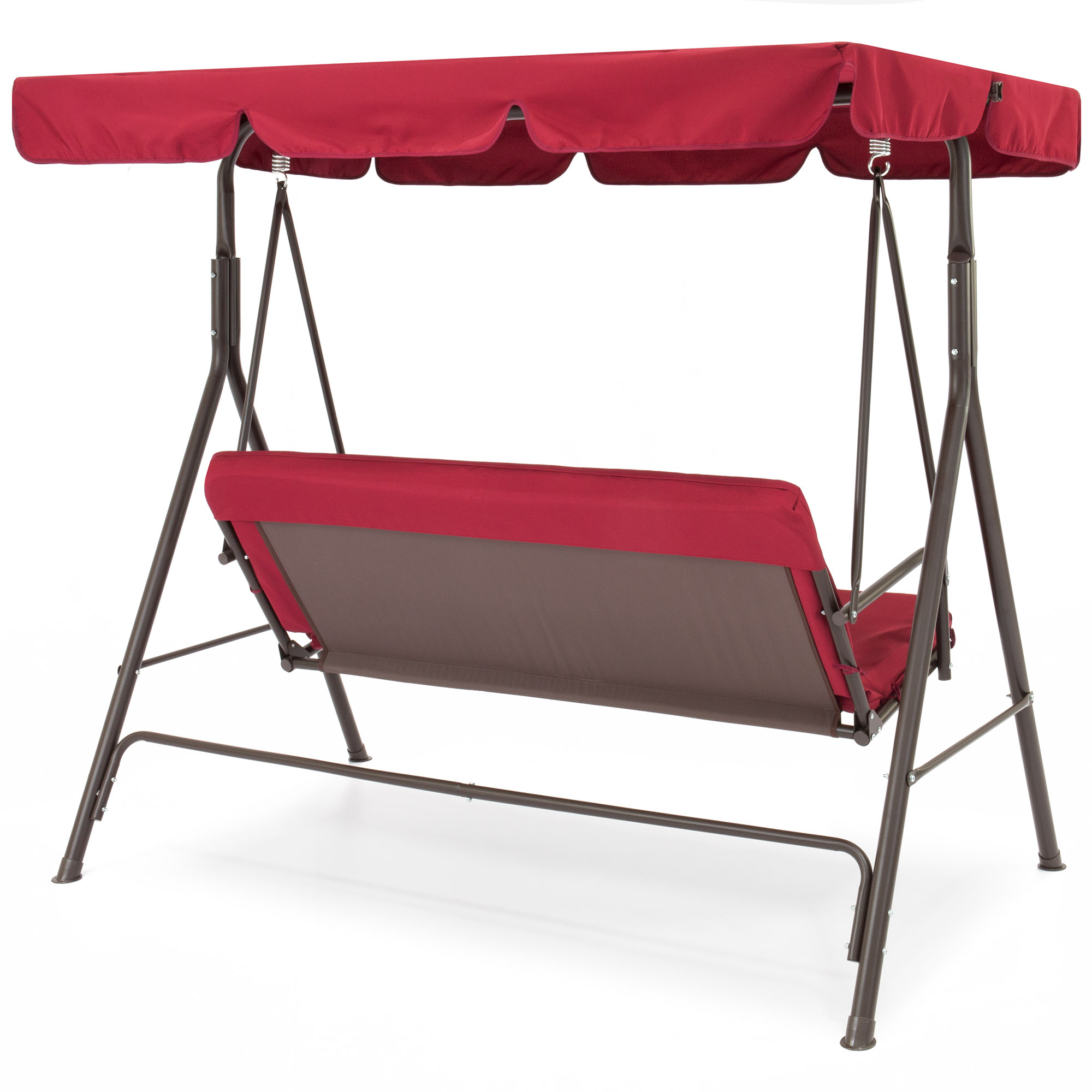 Best Choice Products 2 Person Outdoor Large Convertible Intended For Well Liked 2 Person Outdoor Convertible Canopy Swing Gliders With Removable Cushions Beige (View 12 of 25)