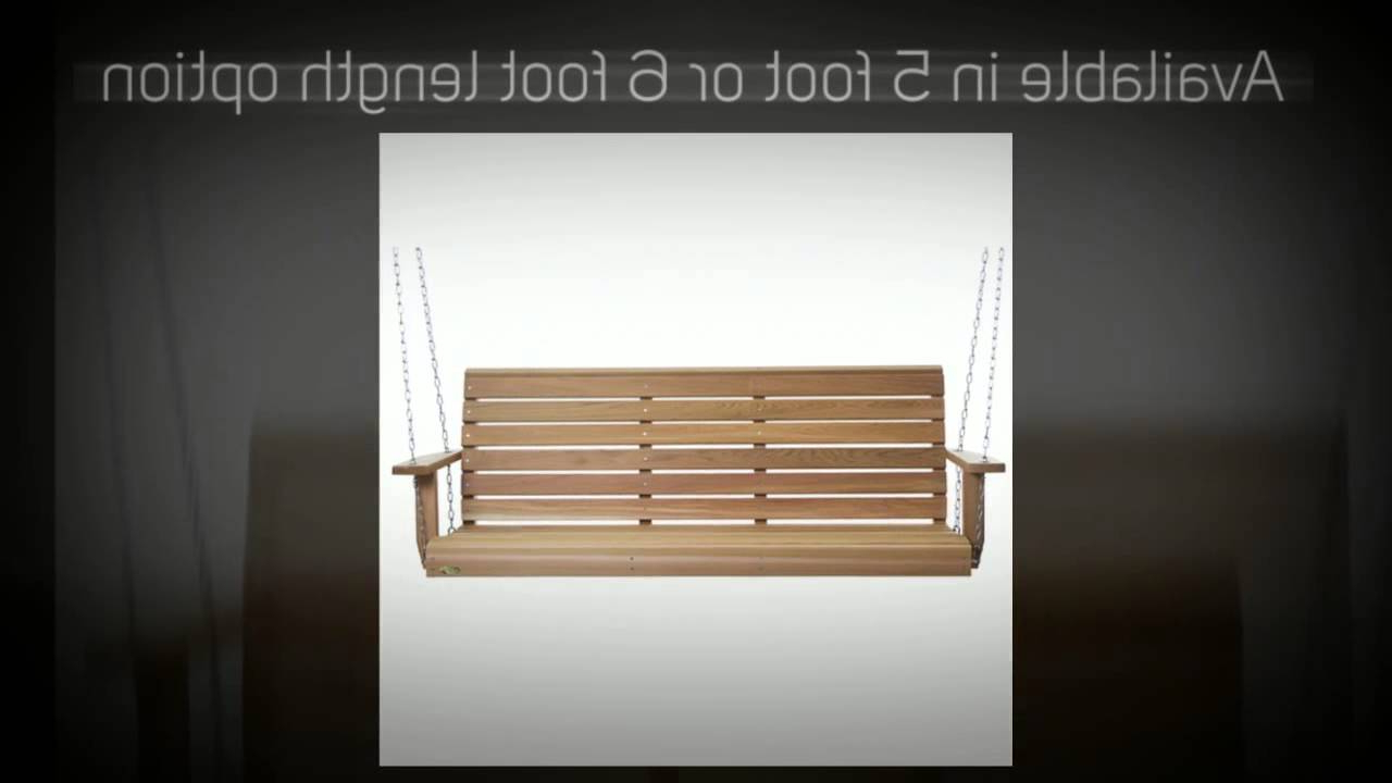 Bristol Porch Swings Within Well Known All Things Cedar Bristol Red Cedar Porch Swing – Ps60U, Ps (View 8 of 25)